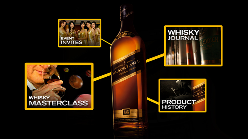 The Walker digital platform The Mentor for Johnnie Walker by Tom Morhous and AKQA