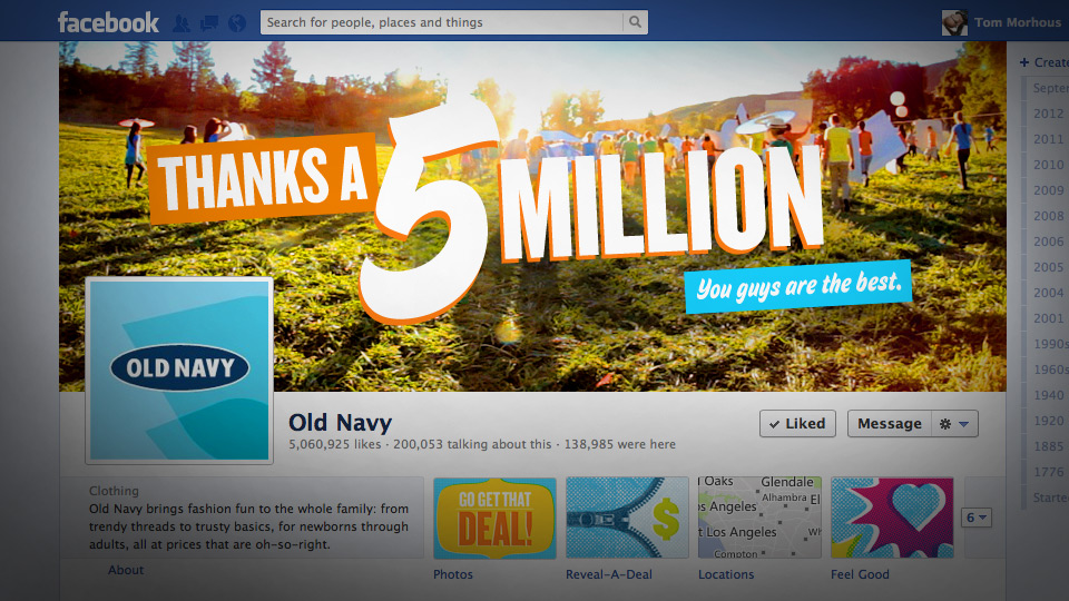 Human Coupon social media stunt for Old Navy by Tom Morhous and Crispin Porter Bogusky