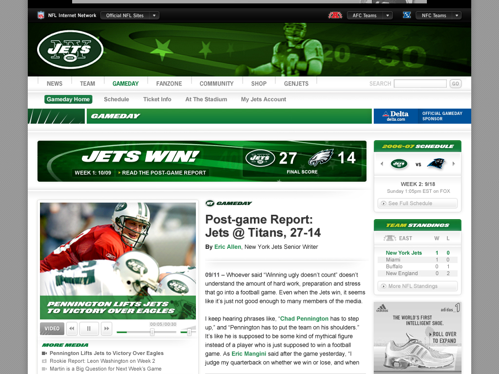 Digital Rebrand branding for New York Jets by Tom Morhous and AKQA