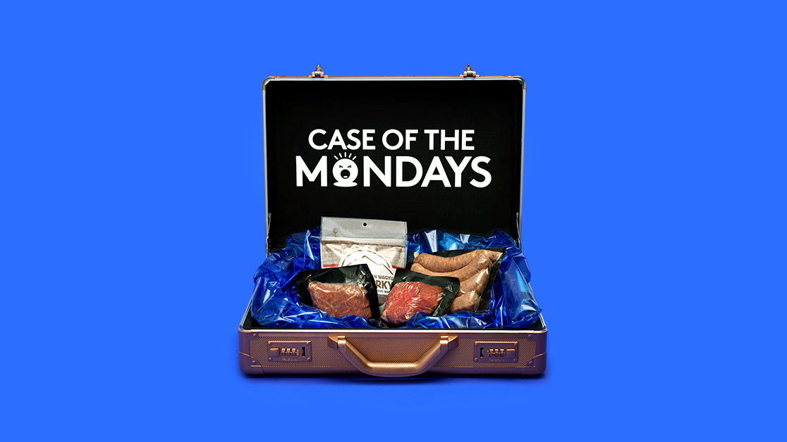 Case of the Mondays ad campaign product development for Lone Mountain Wagyu by Tom Morhous and Remo+Oob, Ltd.