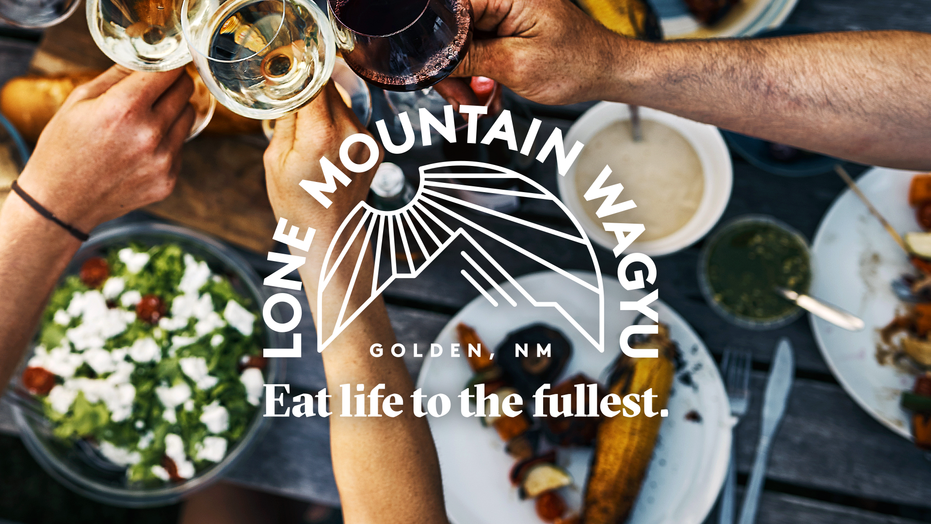 Eat Life to the Fullest branding photography for Lone Mountain Wagyu by Tom Morhous and Remo+Oob, Ltd.