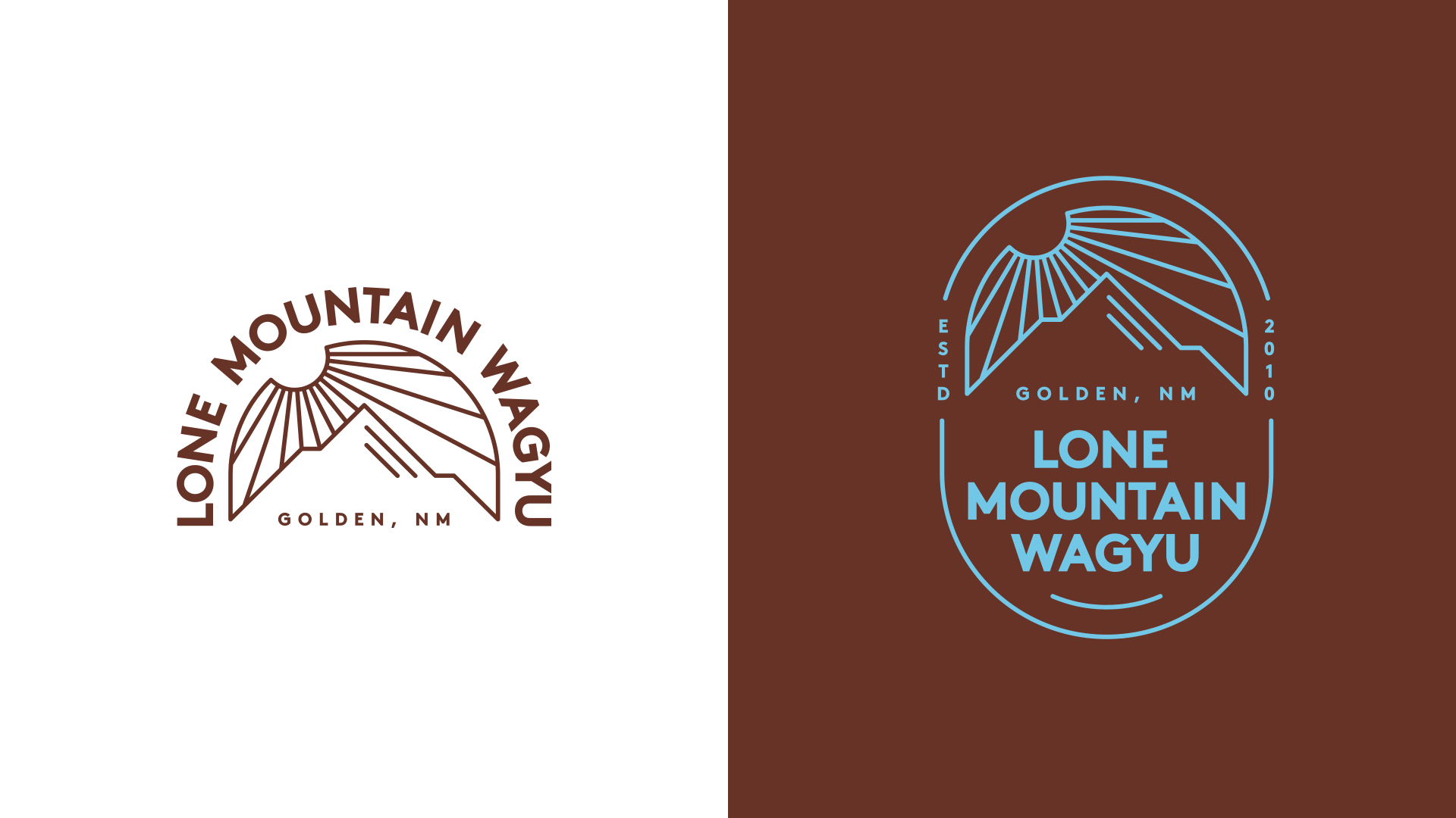 Eat Life to the Fullest branding logo for Lone Mountain Wagyu by Tom Morhous and Remo+Oob, Ltd.