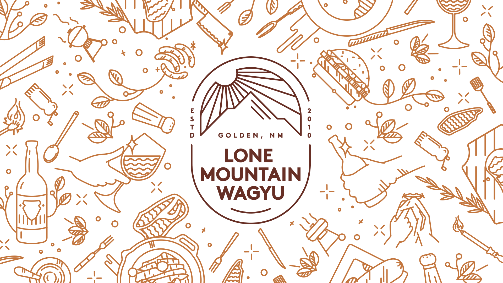 Eat Life to the Fullest branding for Lone Mountain Wagyu by Tom Morhous and Remo+Oob, Ltd.