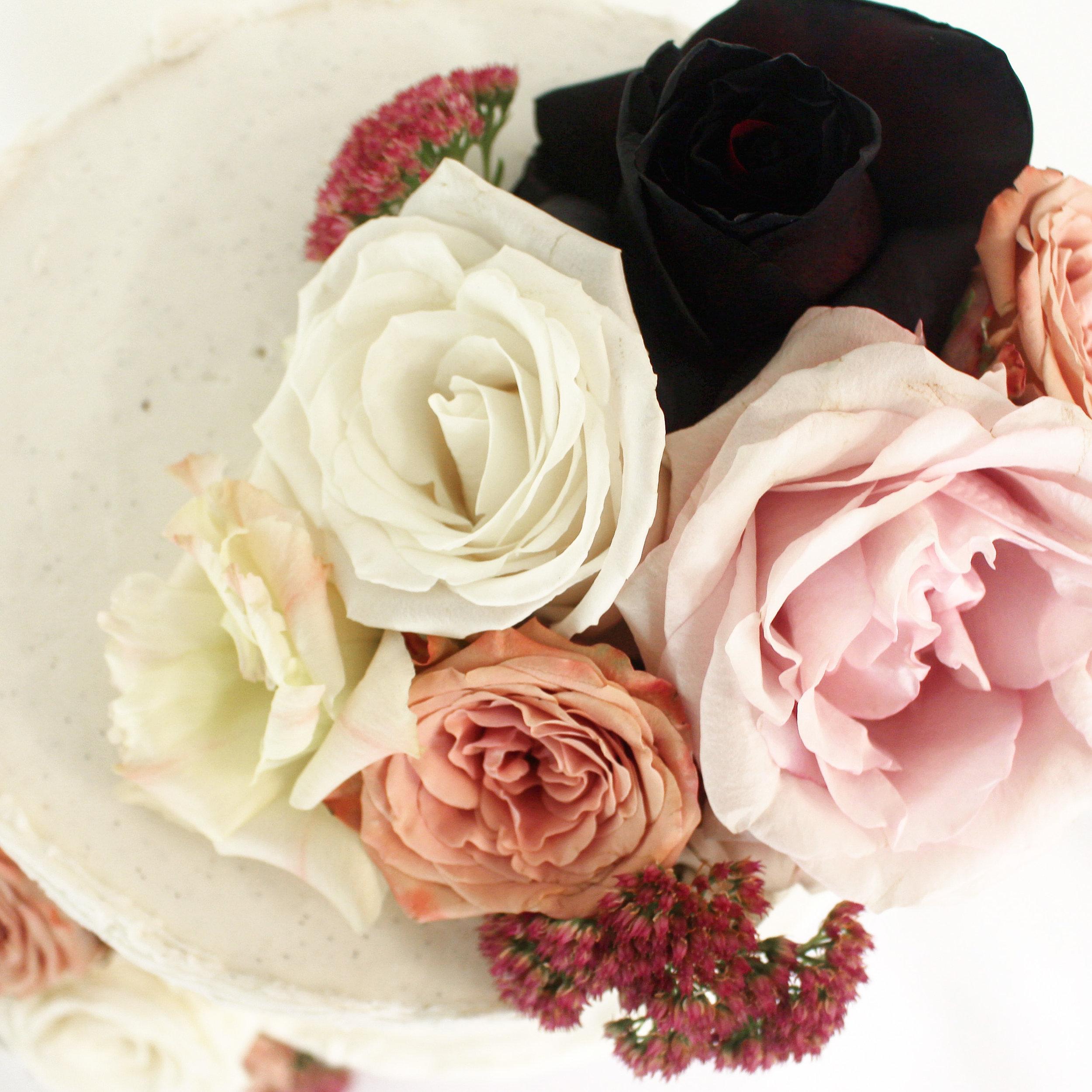 < vegan coconut & sour cherry wedding cake >