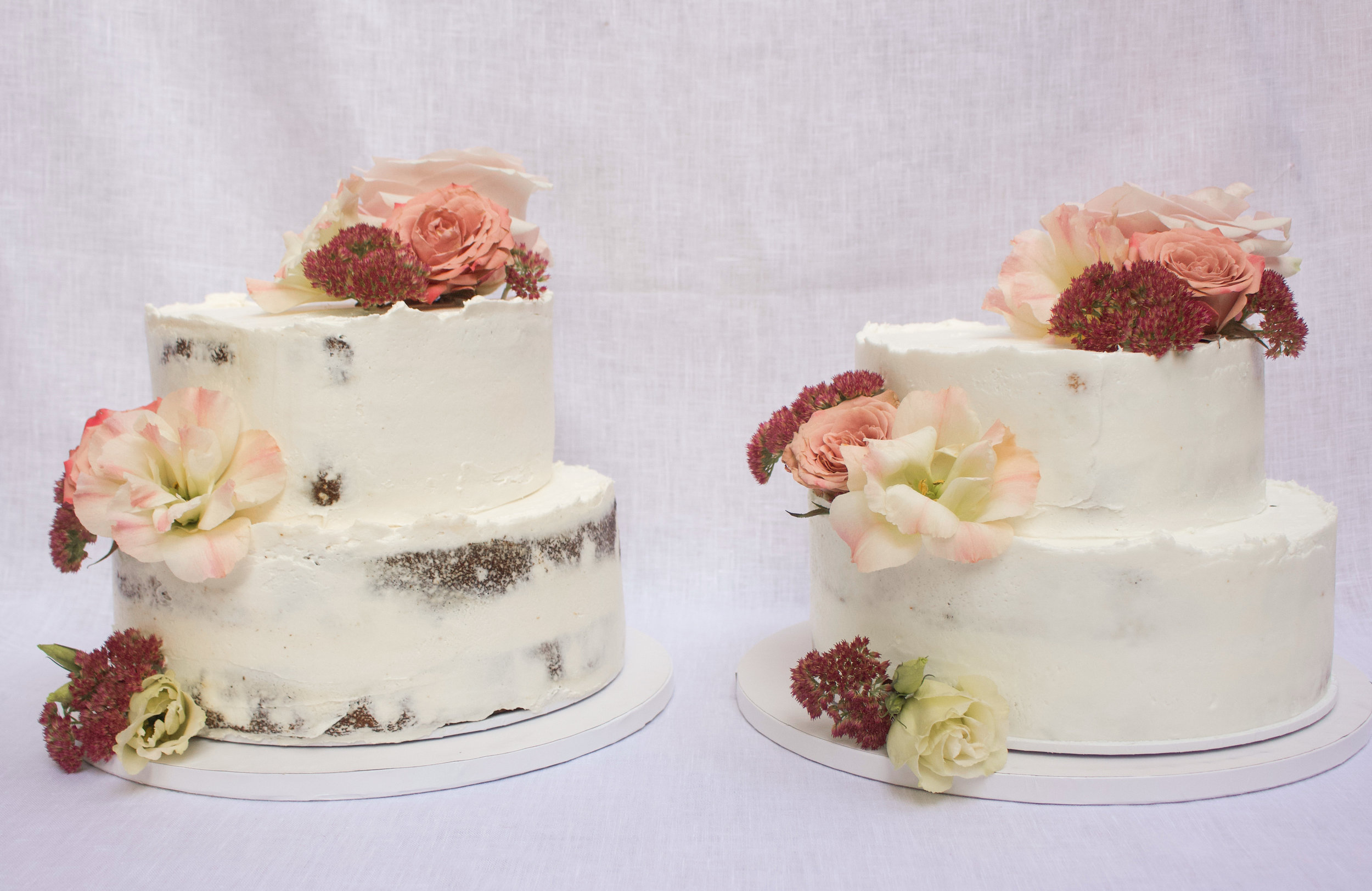 < vegan wedding cakes >