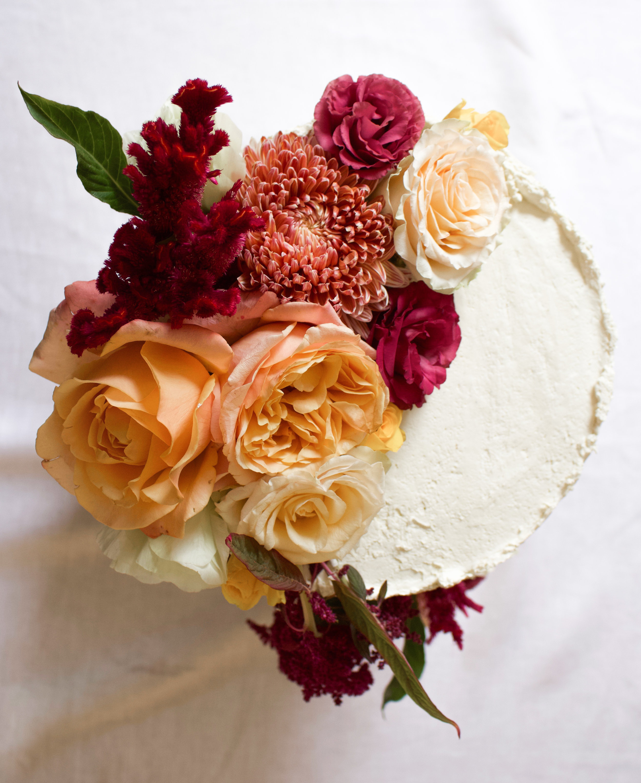 < floral wedding cake topper >