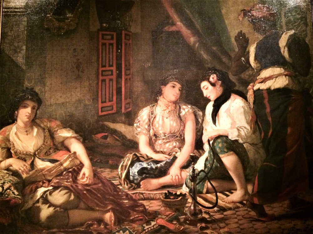 """""""Women of Algiers in Their Apartment"""" (1834)"""