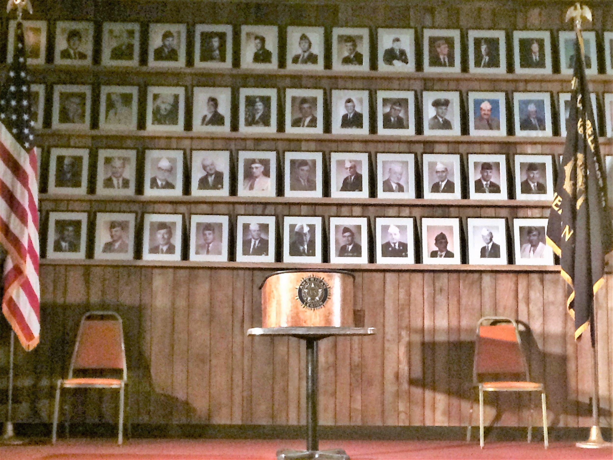 The setting: An American Legion Hall