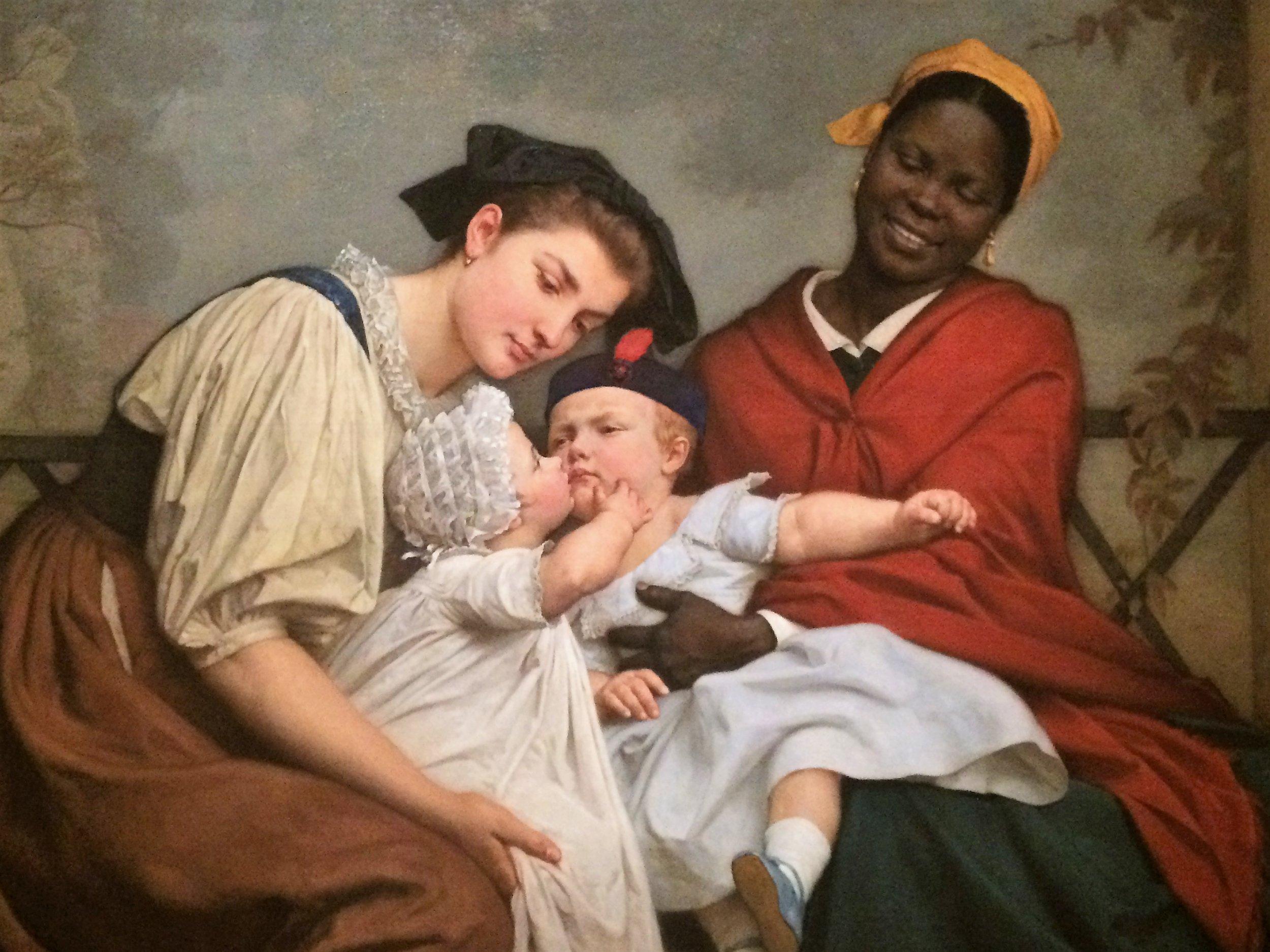 Jacques Eugene-Feyen:The Childlike Kiss 1865