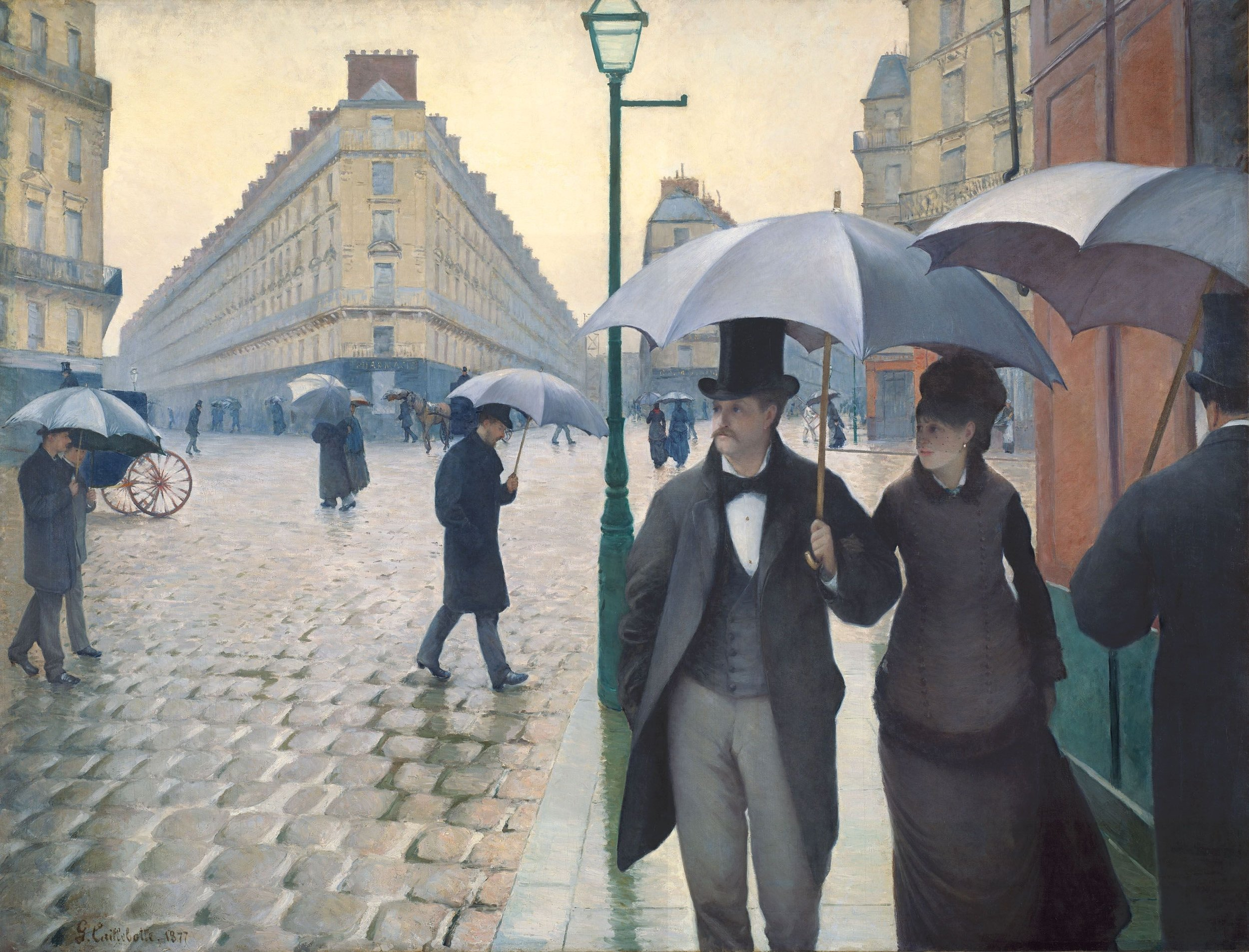 Gustave Caillebot: Paris Street: Rainy Day 1877