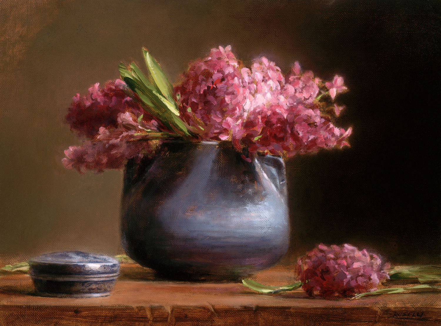 "THE McCOY POT WITH HYACINTH    AMERICAN ARTIST MAGAZINE FIRST PRIZE - 70TH ANNIVERSARY   oil on linen           12"" x 16"""