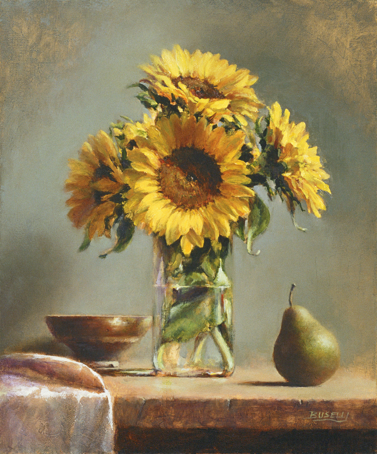 "SUNLIT    ARTIST'S MAGAZINE COVER AWARD    OIL PAINTERS OF AMERICA | BEST STILL-LIFE AWARD    oil on linen | 18"" x 15"""