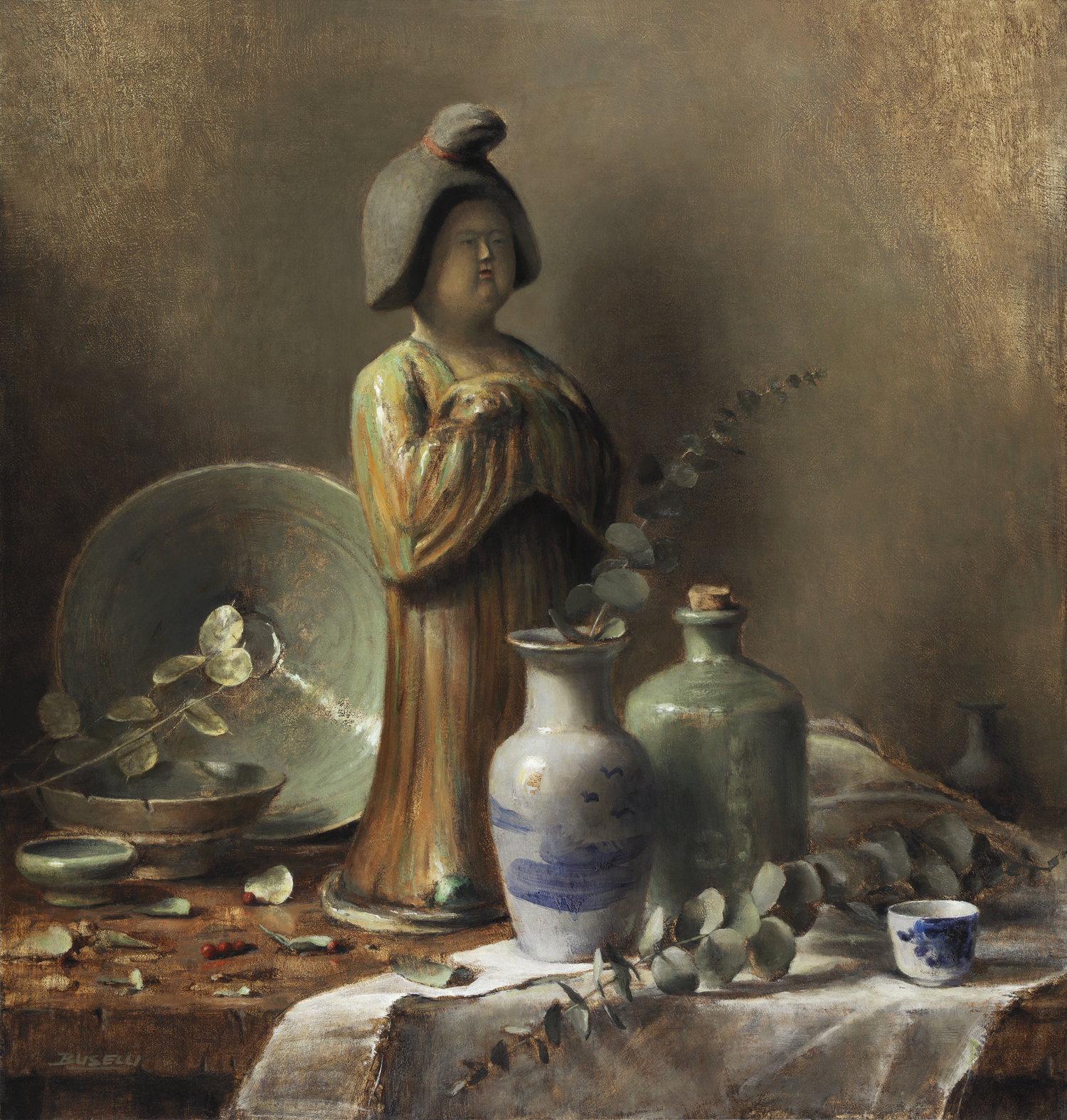 "TANG LADY    ART RENEWAL CENTER FINALIST 2017 SALON   oil on linen | 20"" x 21"""