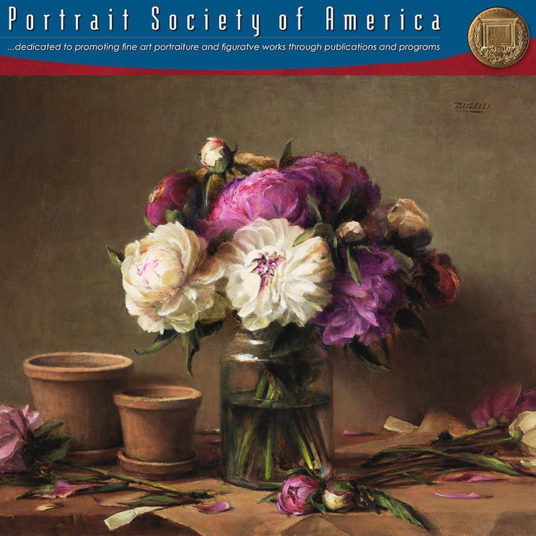 """""""THE ARRANGEMENT"""", has been awarded """"FINALIST"""" in the PORTRAIT SOCIETY OF AMERICA'S MEMBER COMPETIEION 2018, Still Life Category. Such an honor to be recognized by this prestigious organization."""