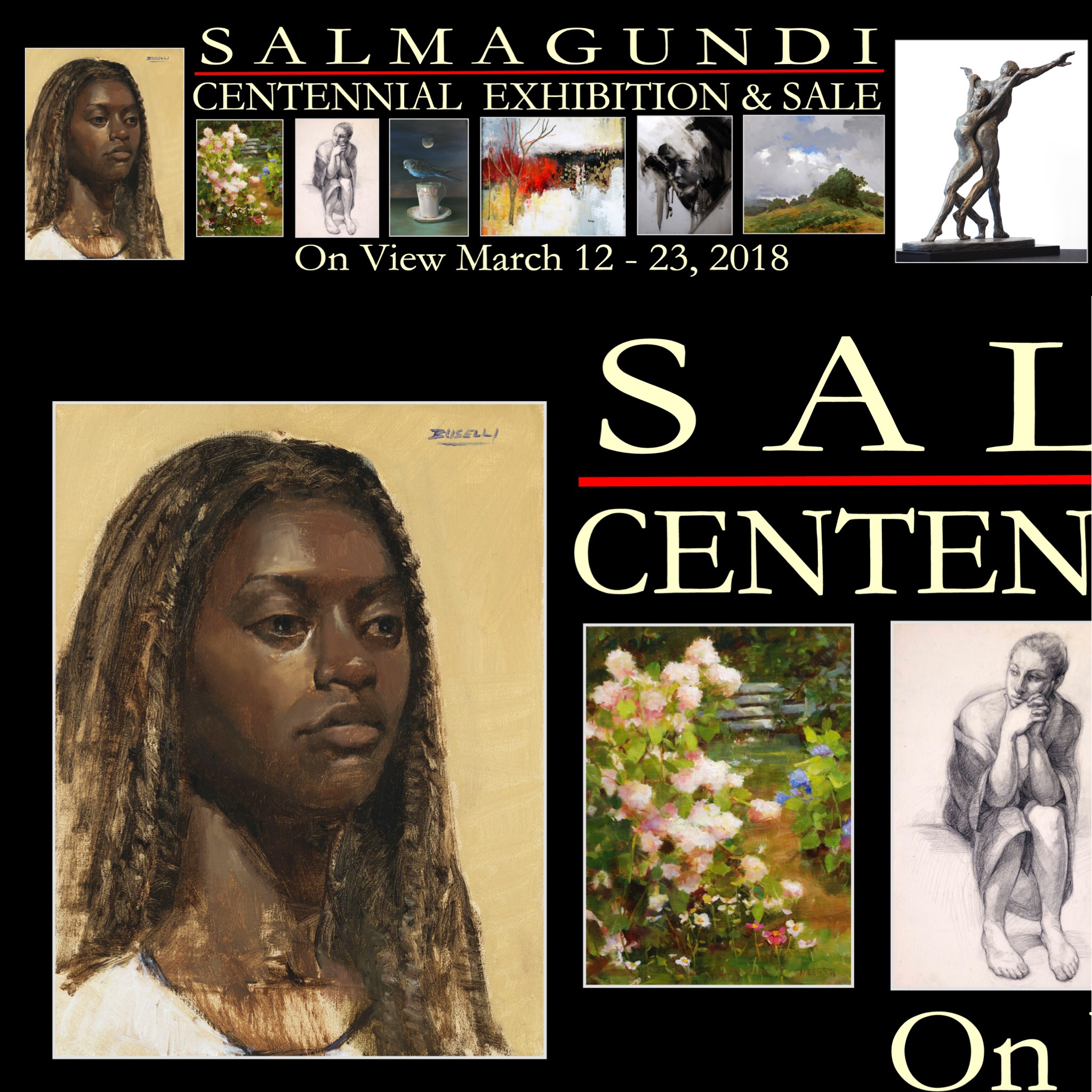 """""""BELLE"""" was selected to be on the Salmagundi Club Banner for the 2018 Centennial Exhibition and Sale. An honor to have my alla-prima portrait featured on Fifth Avenue in front of the historic and oldest art club in New York City."""