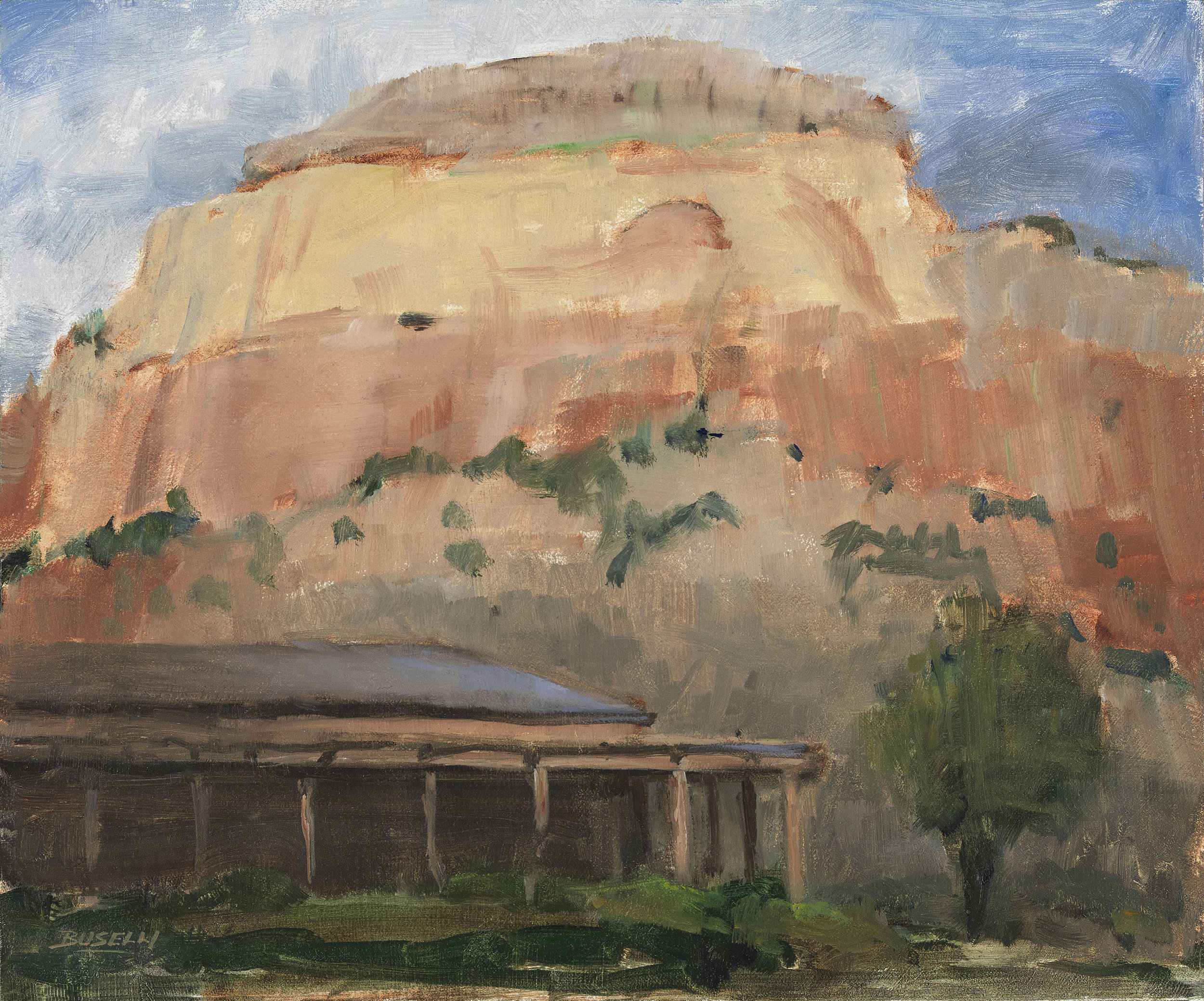"VIEW AT GHOST RANCH, NM  oil on linen | 12"" x 12"""