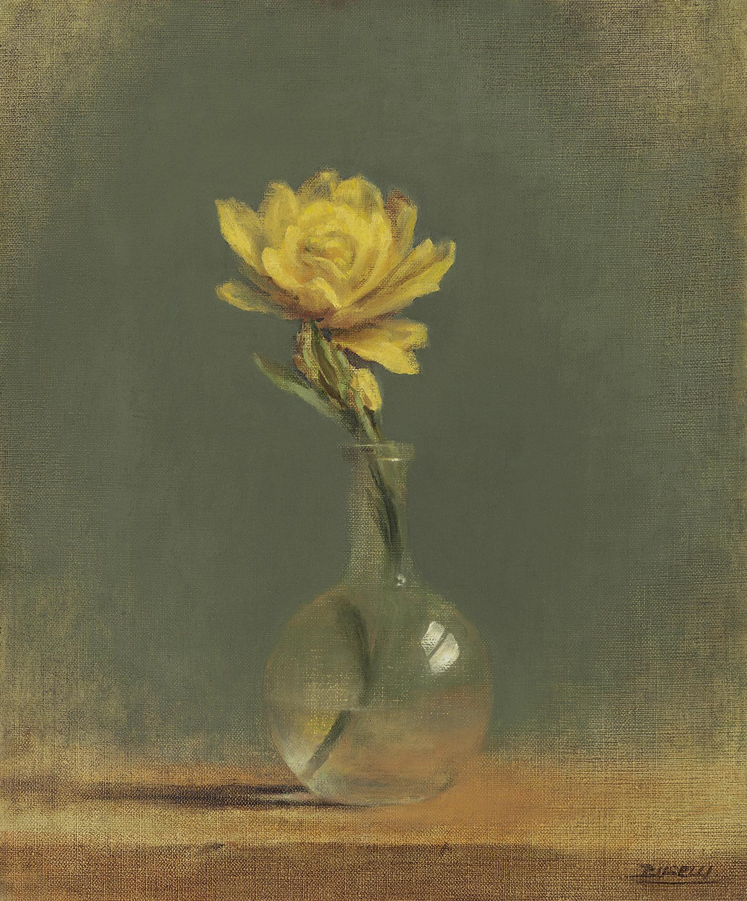 """Eben""""s Magic Flower  oil on linen - 18""""x 15"""""""