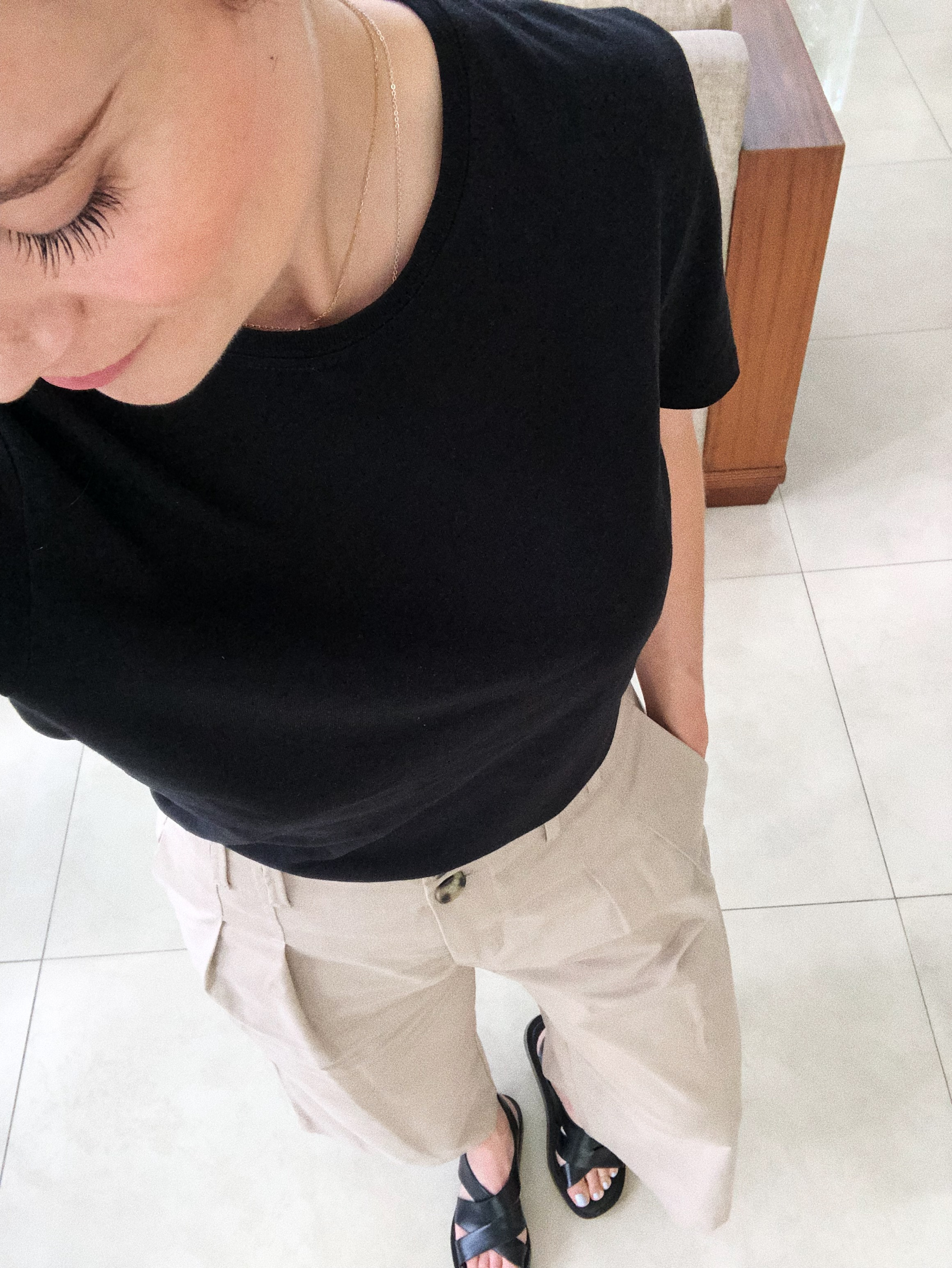 2. basics - there was nothing a t-shirt, high-waisted trousers, and some good shoes couldn't solve, or at least improve…