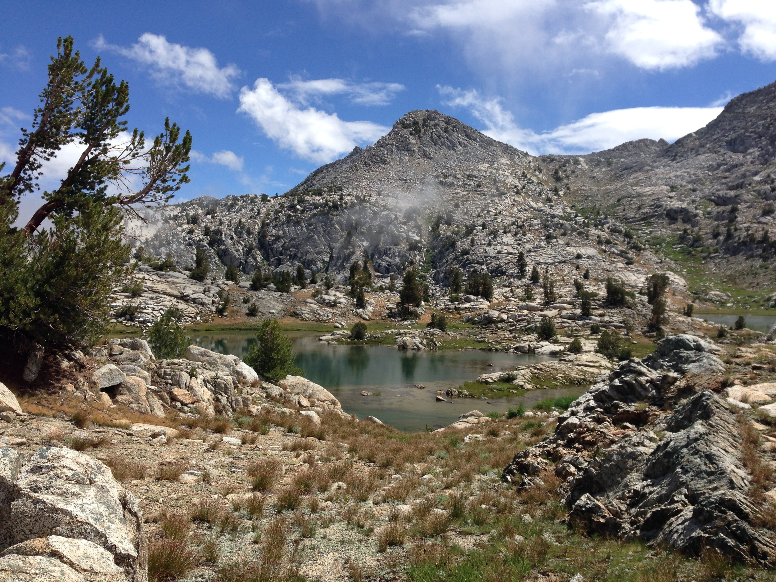 Saddle between Volcanic Lakes Basin and the Granite Pass trail, Kings Canyon National Park