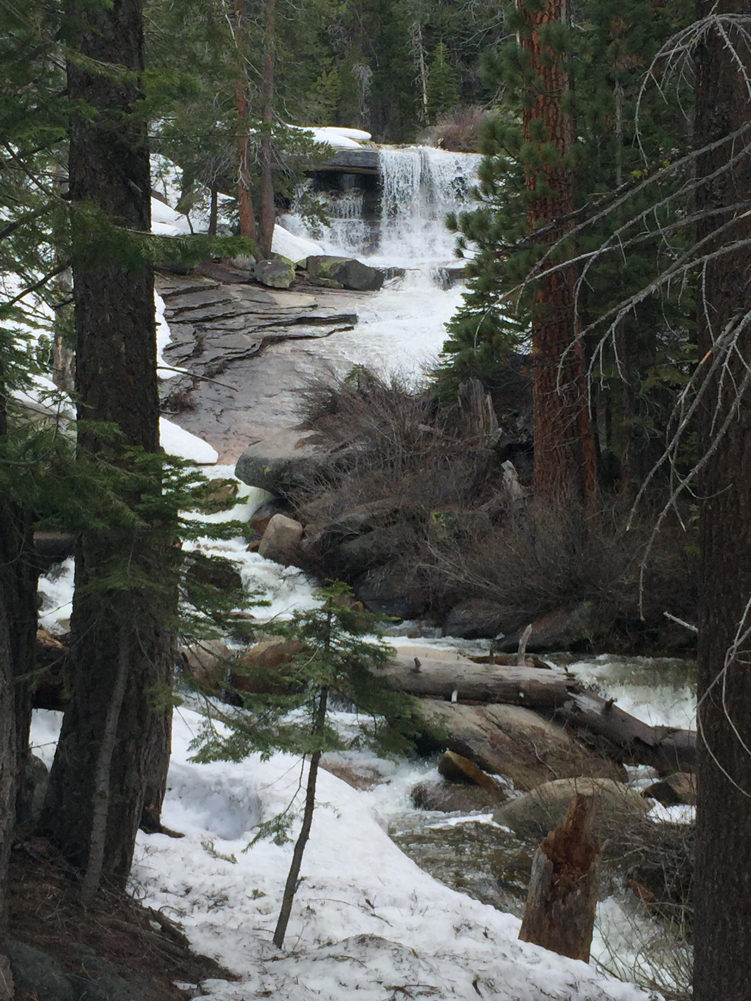 Snow Creek Falls, mid-afternoon
