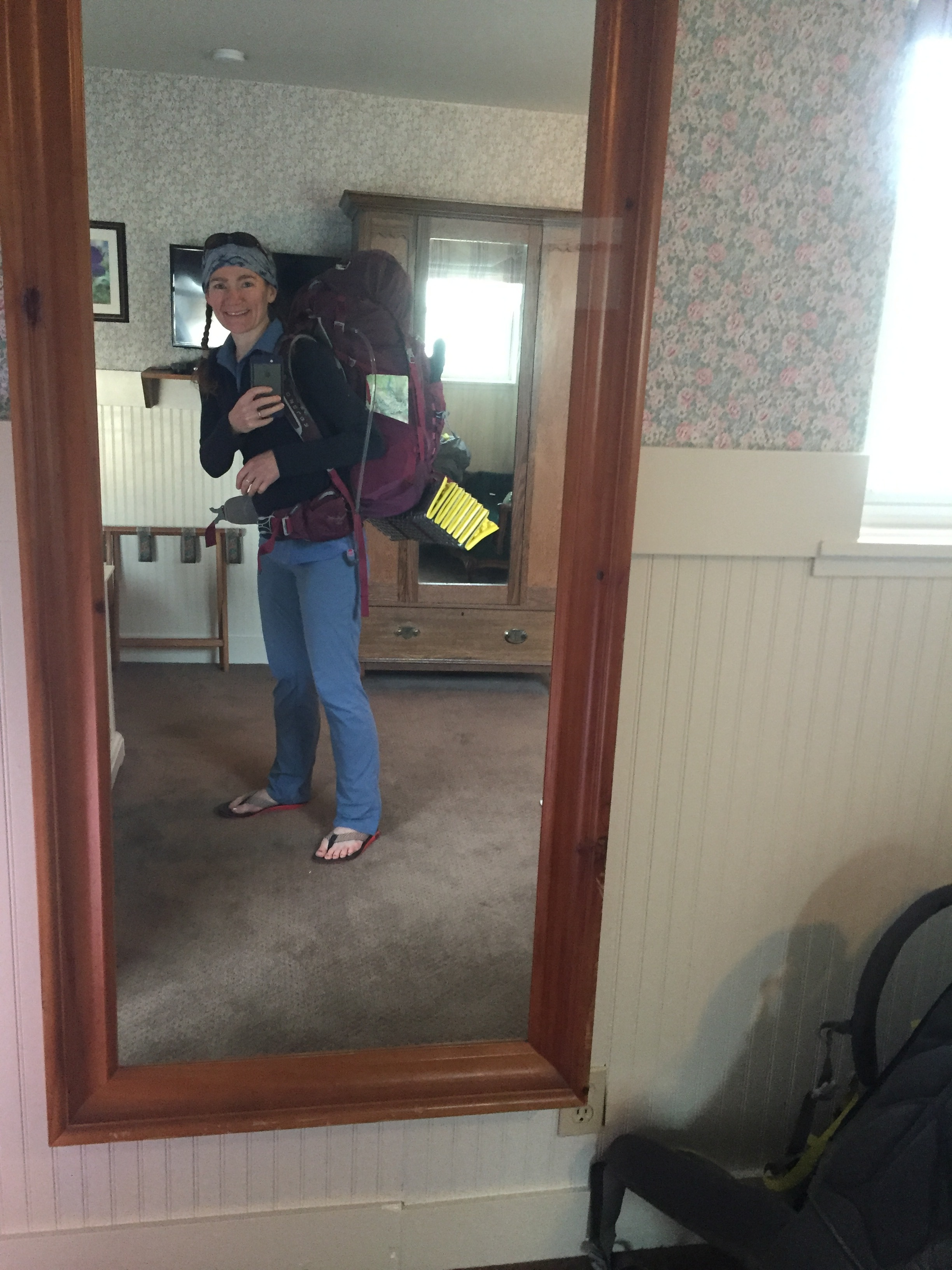 Goofy morning mirror-selfie at the Hotel Charlotte