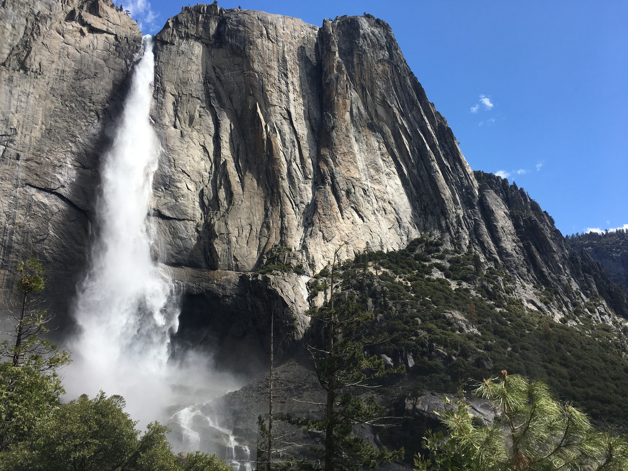 Upper Yosemite Falls from the trail