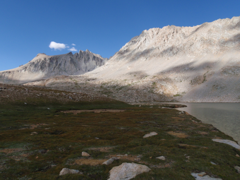 Lake South America with Mt. Stanford, Gregorys Monument, and Caltech Peak on the edge of the Upper Kern Basin