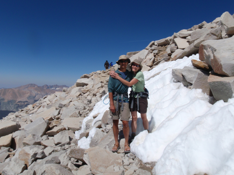 Andrew & Cheri on the final approach to Mt. Whitney Summit
