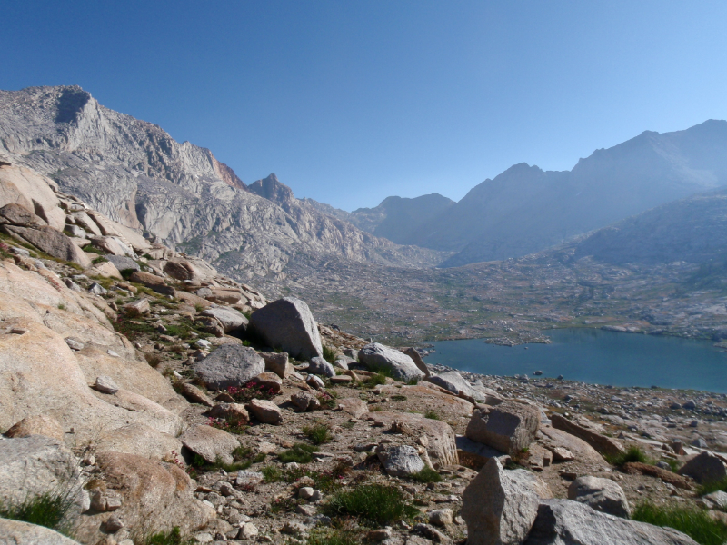 Nine Lakes Basin from Kaweah Gap along the High Sierra Trail