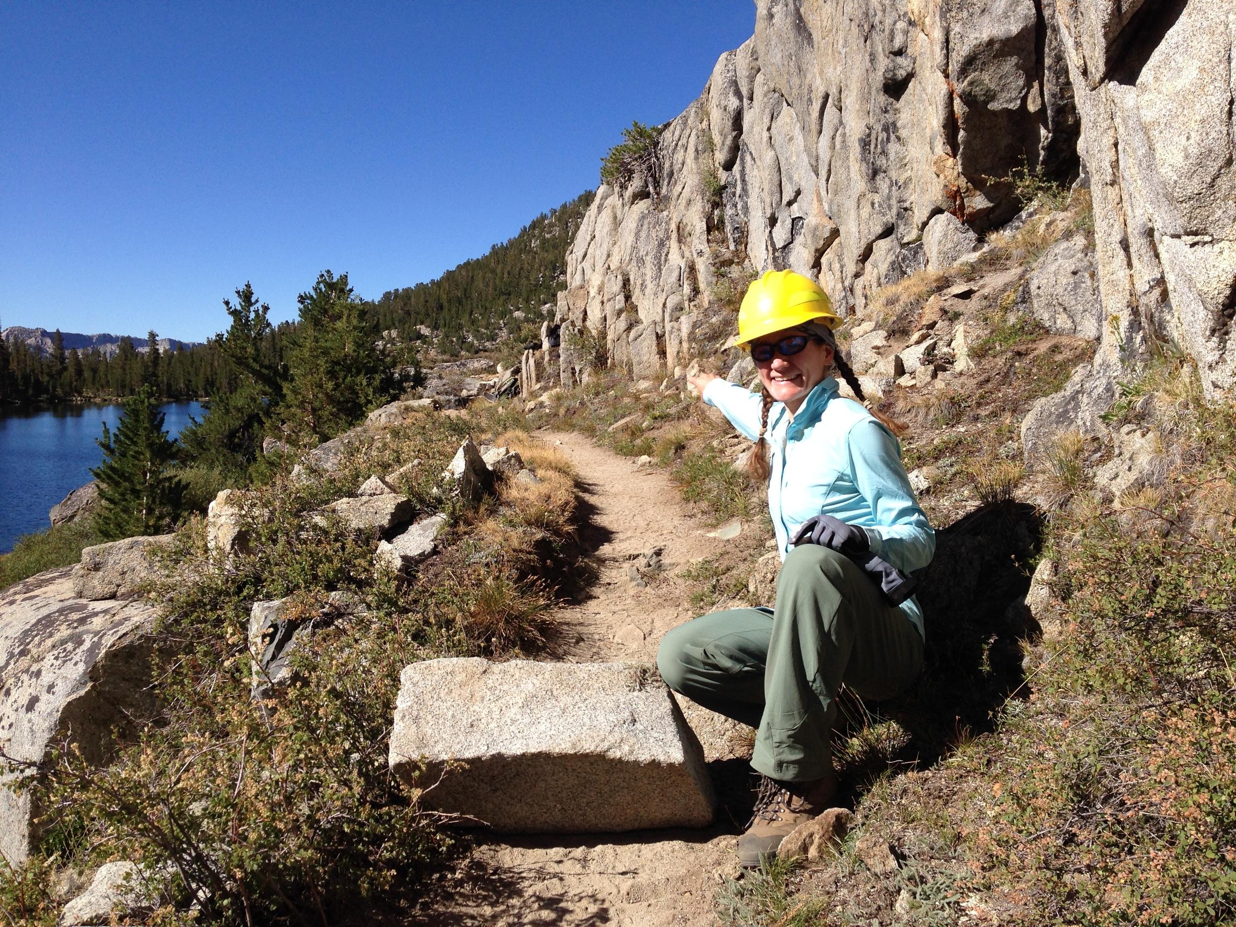 Trail work near Sallie Keyes Lakes