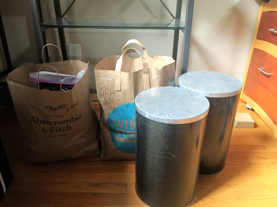 Truckee & Echo Lake resupplies and bear canisters