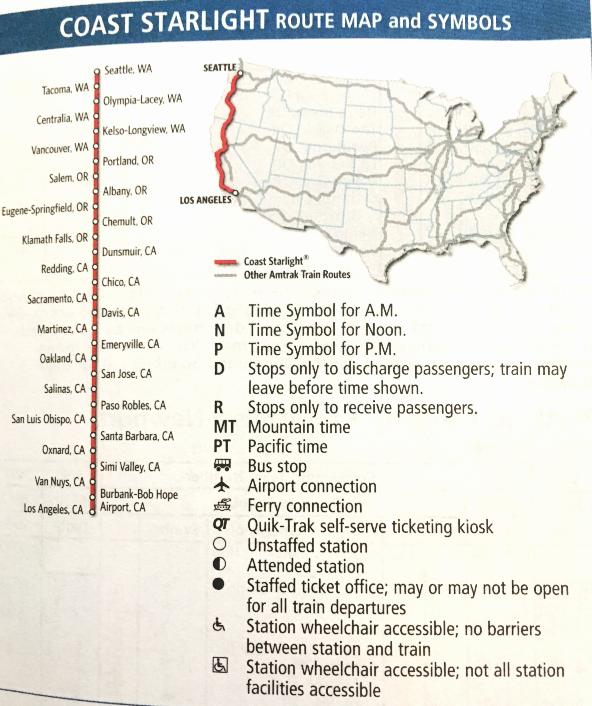 Los Angeles to Seattle via Amtrak
