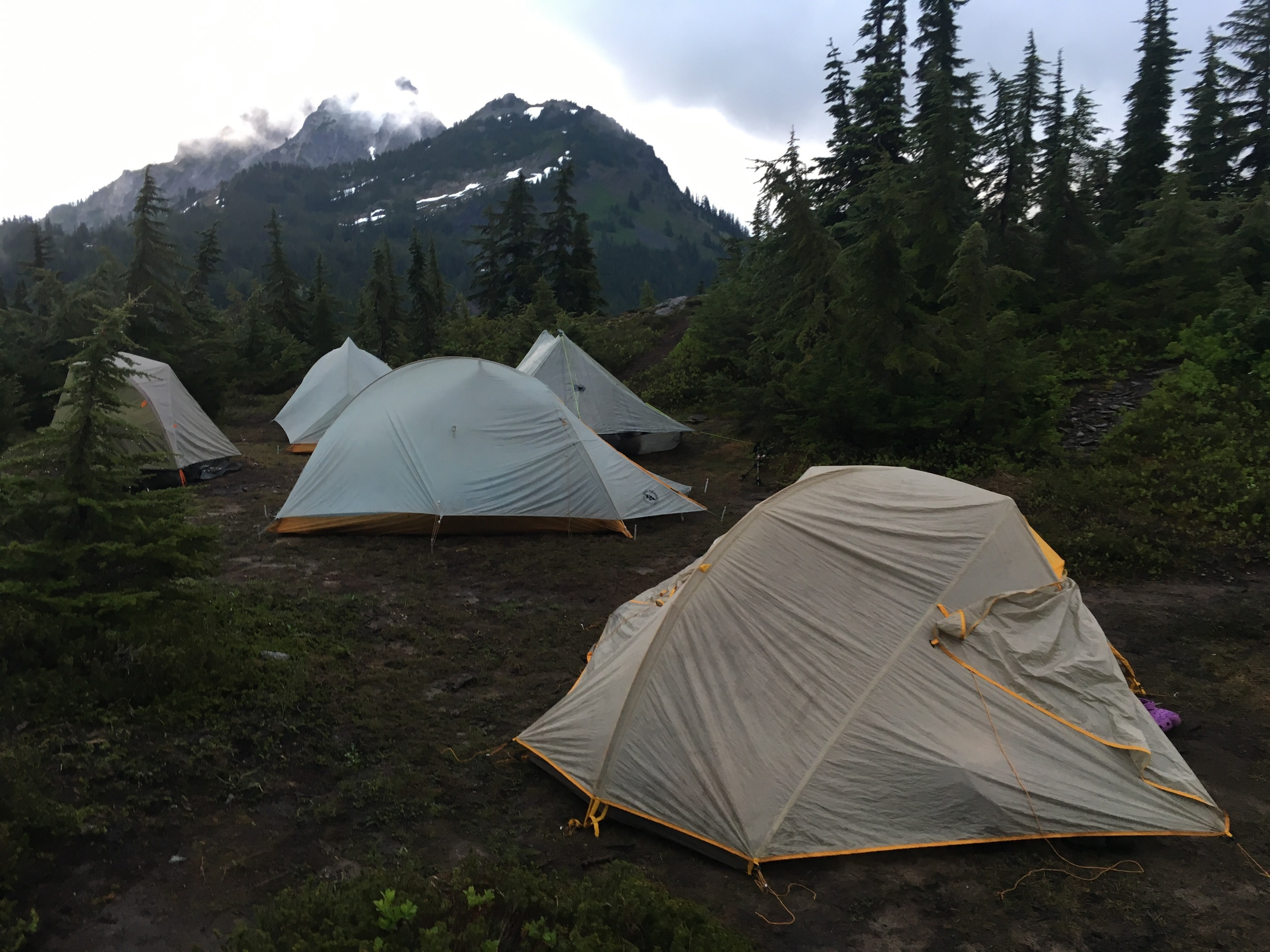 And our tent makes 5. Tent City, Park Lakes Basin on Night 17.