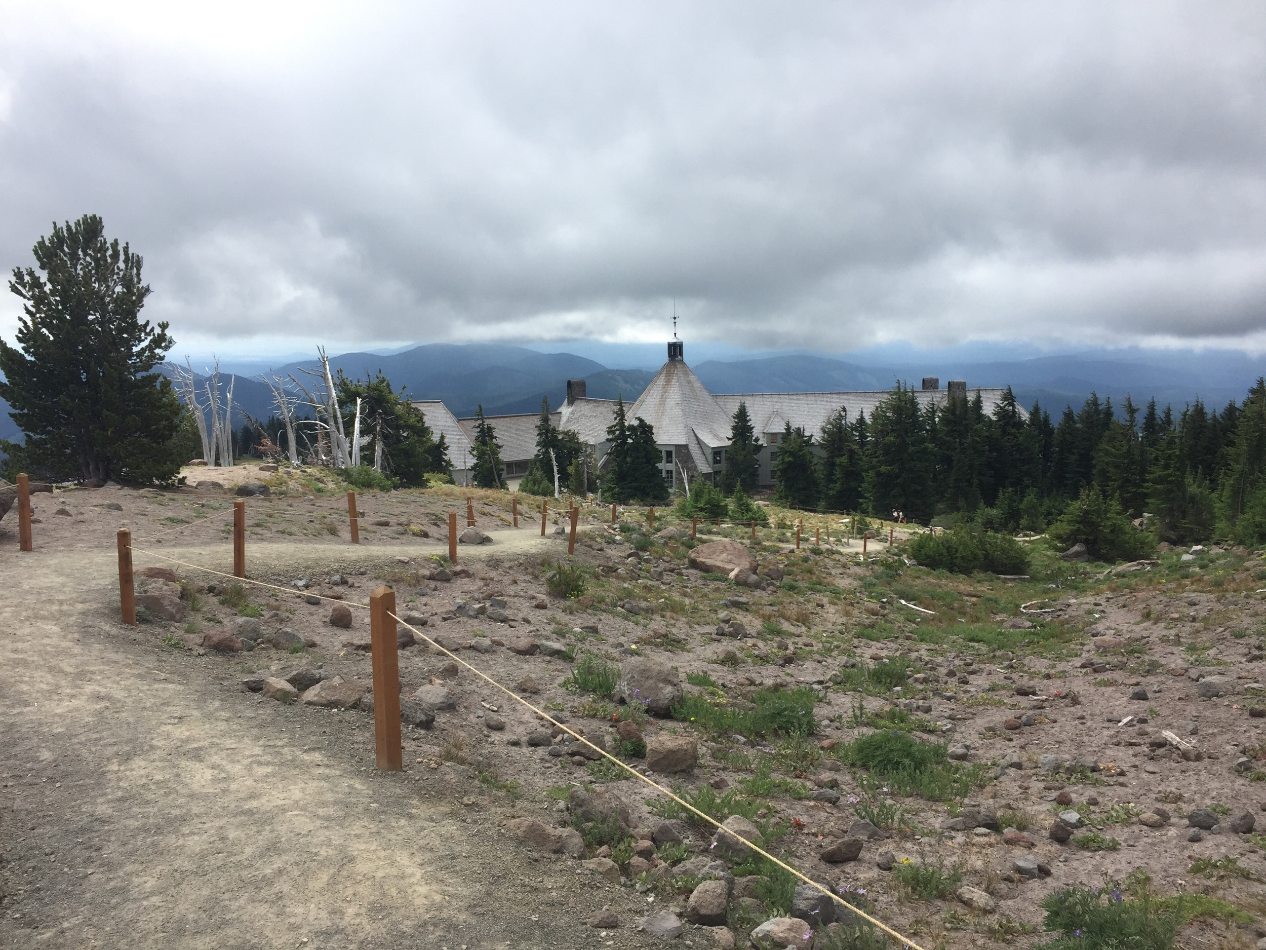Coming into Timberline Lodge on a stormy August day