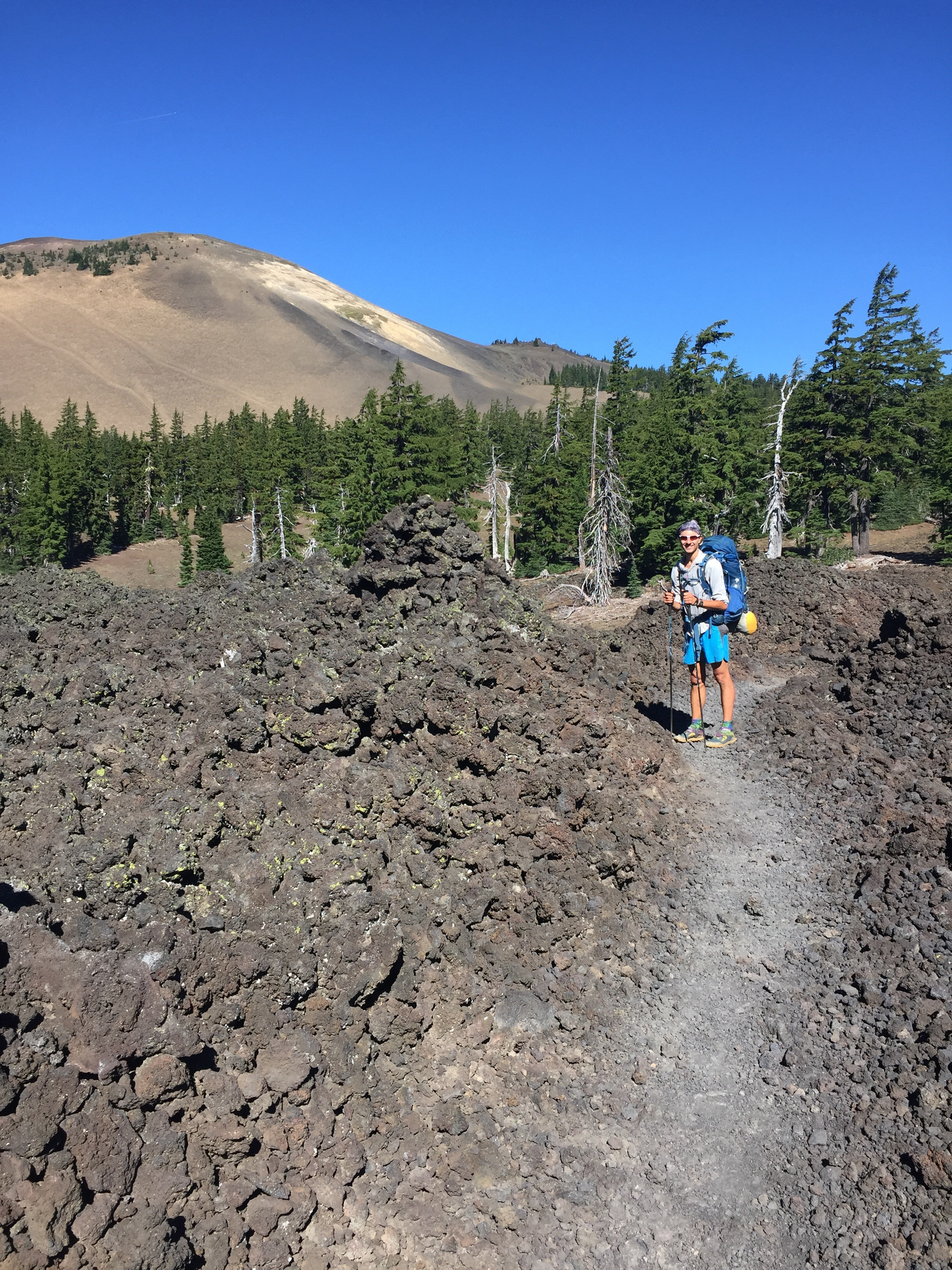 Belknap Crater is where all of this lava came from ~3000 years ago
