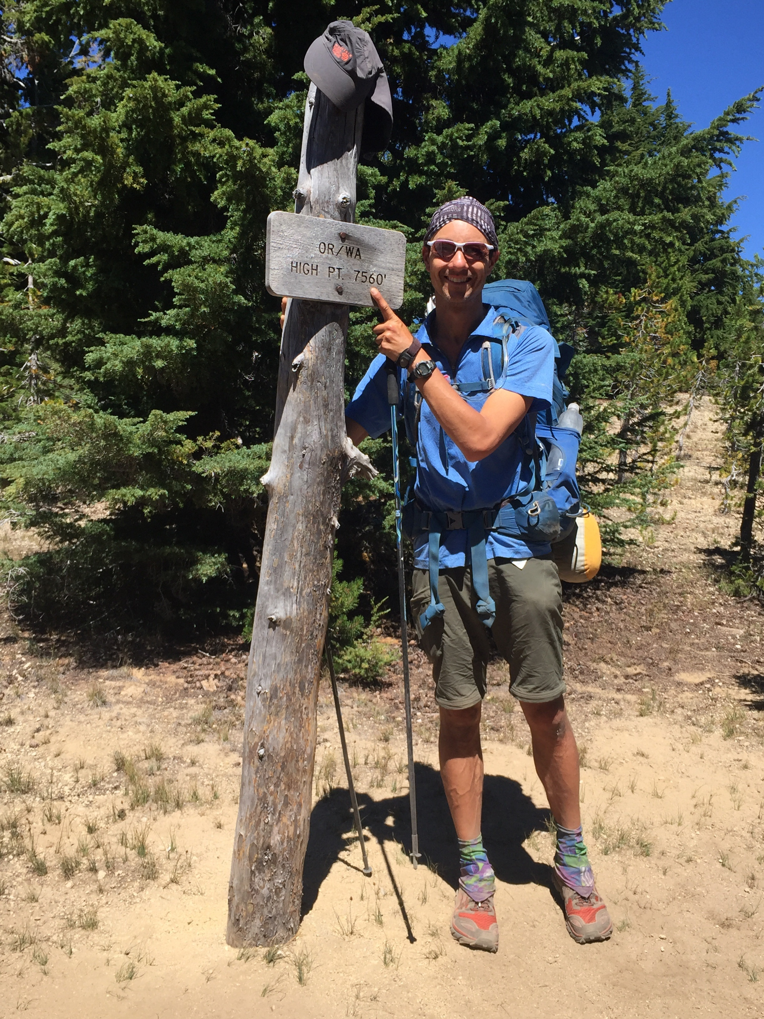 The highest official point on the OR/WA PCT (not counting popular alternate routes)