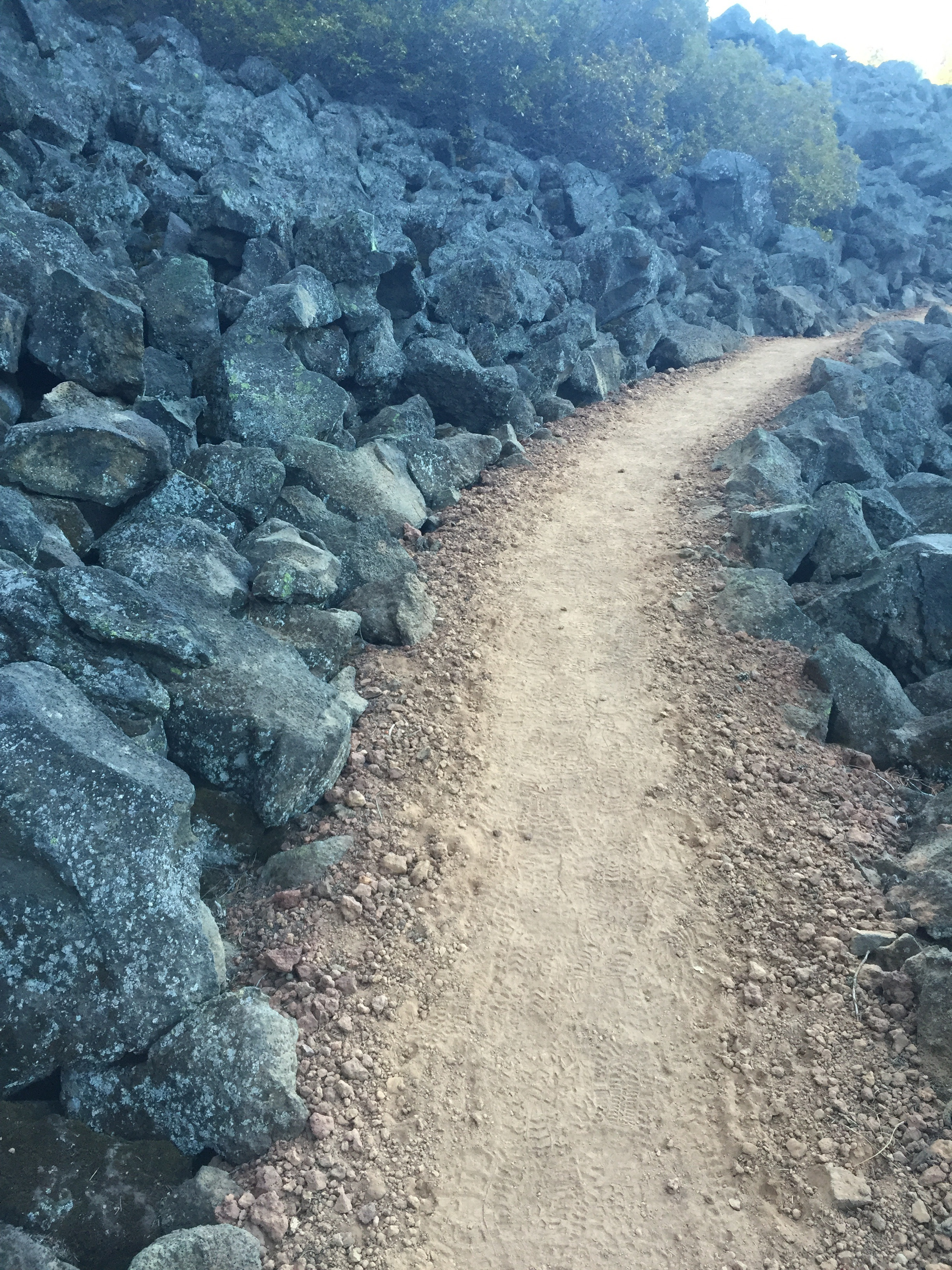 Starter lava trail as we head towards Brown Mountain