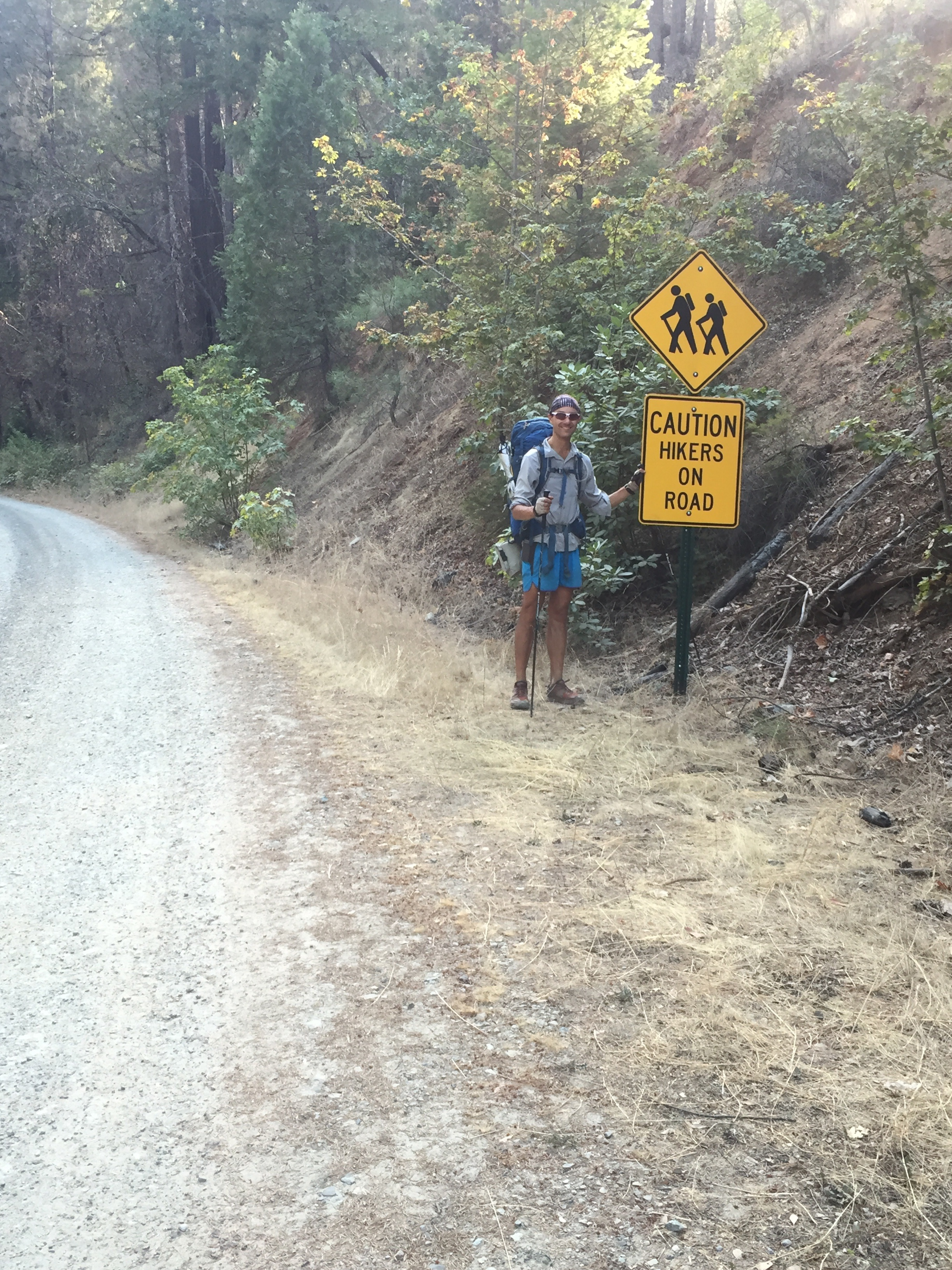 We finally found one small kindness towards hikers several miles up the now-gravel road