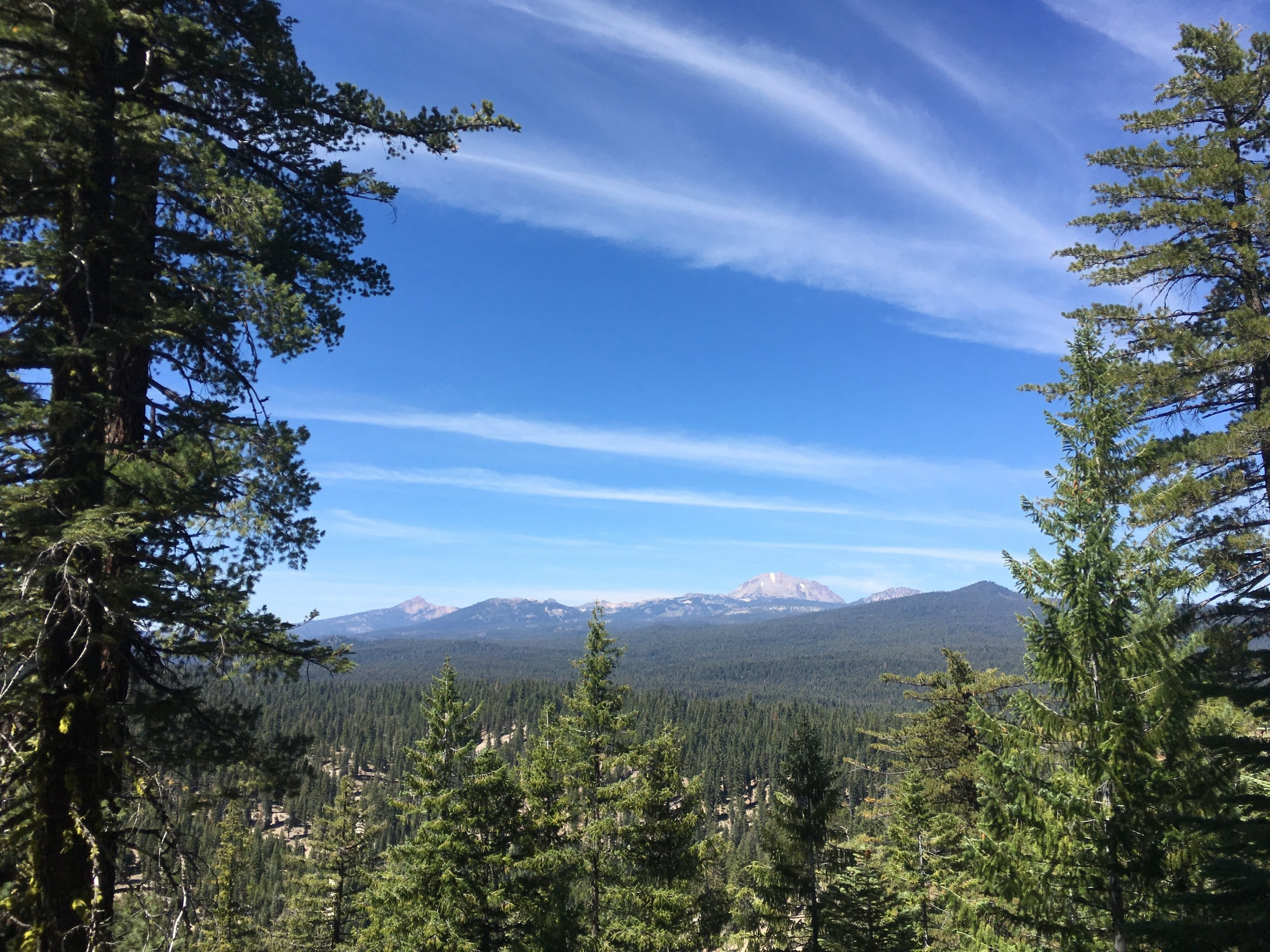Brokeoff Mtn and Mt Lassen. Long ago they were part of the same mega volcano.