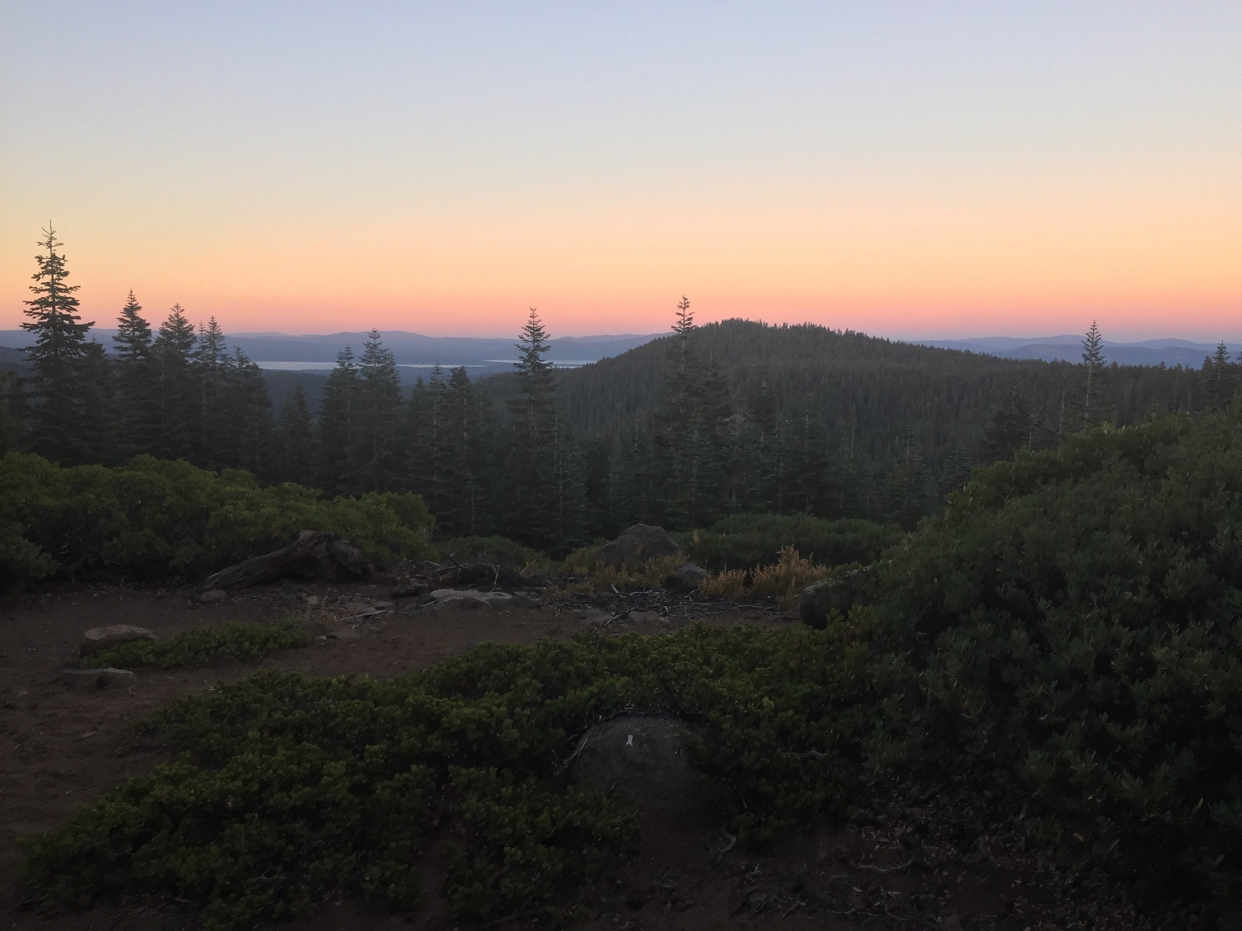 Sunset as we complete our day's hike towards Humbug Summit