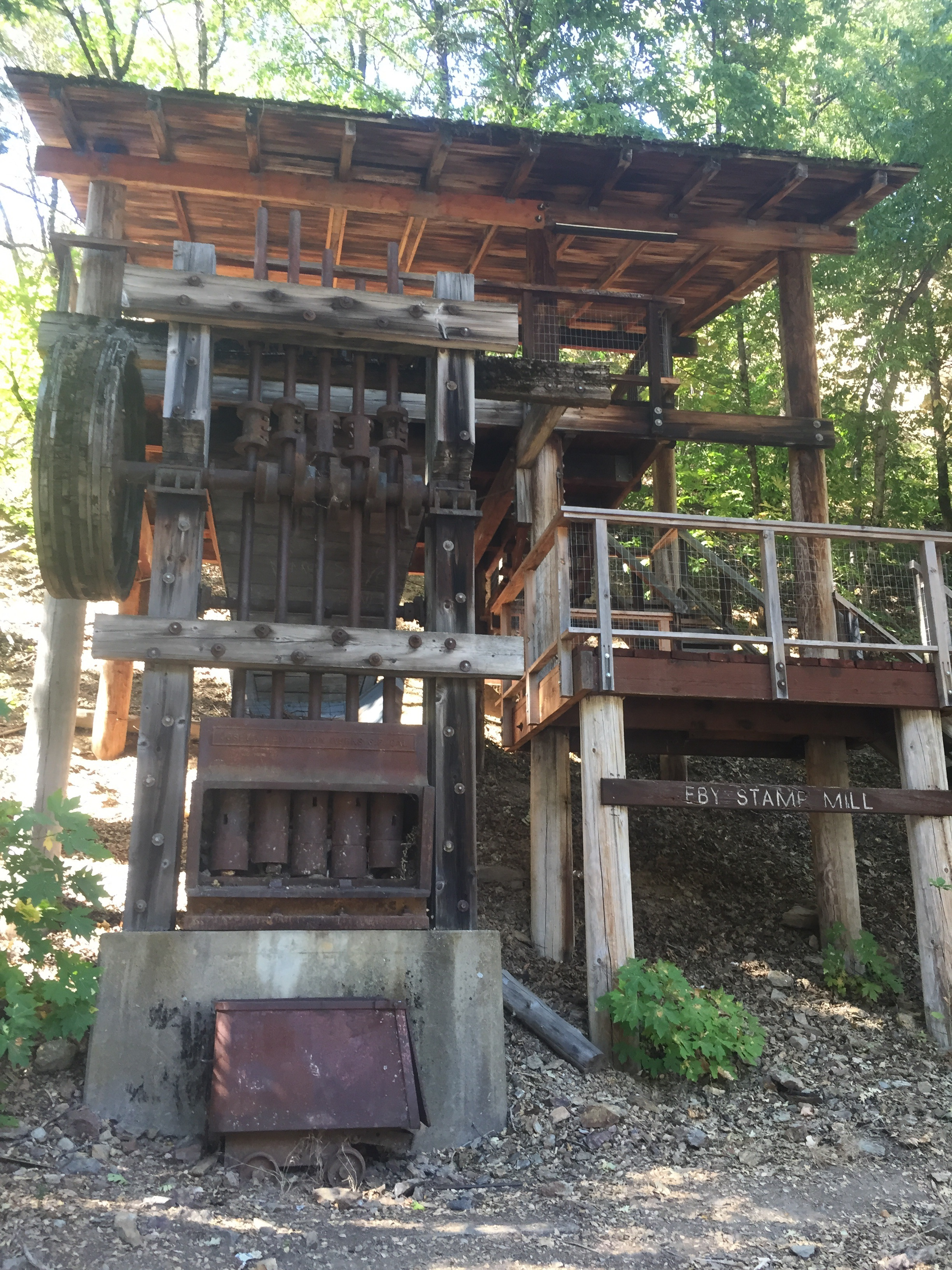 Some old mining equipment at the trailhead