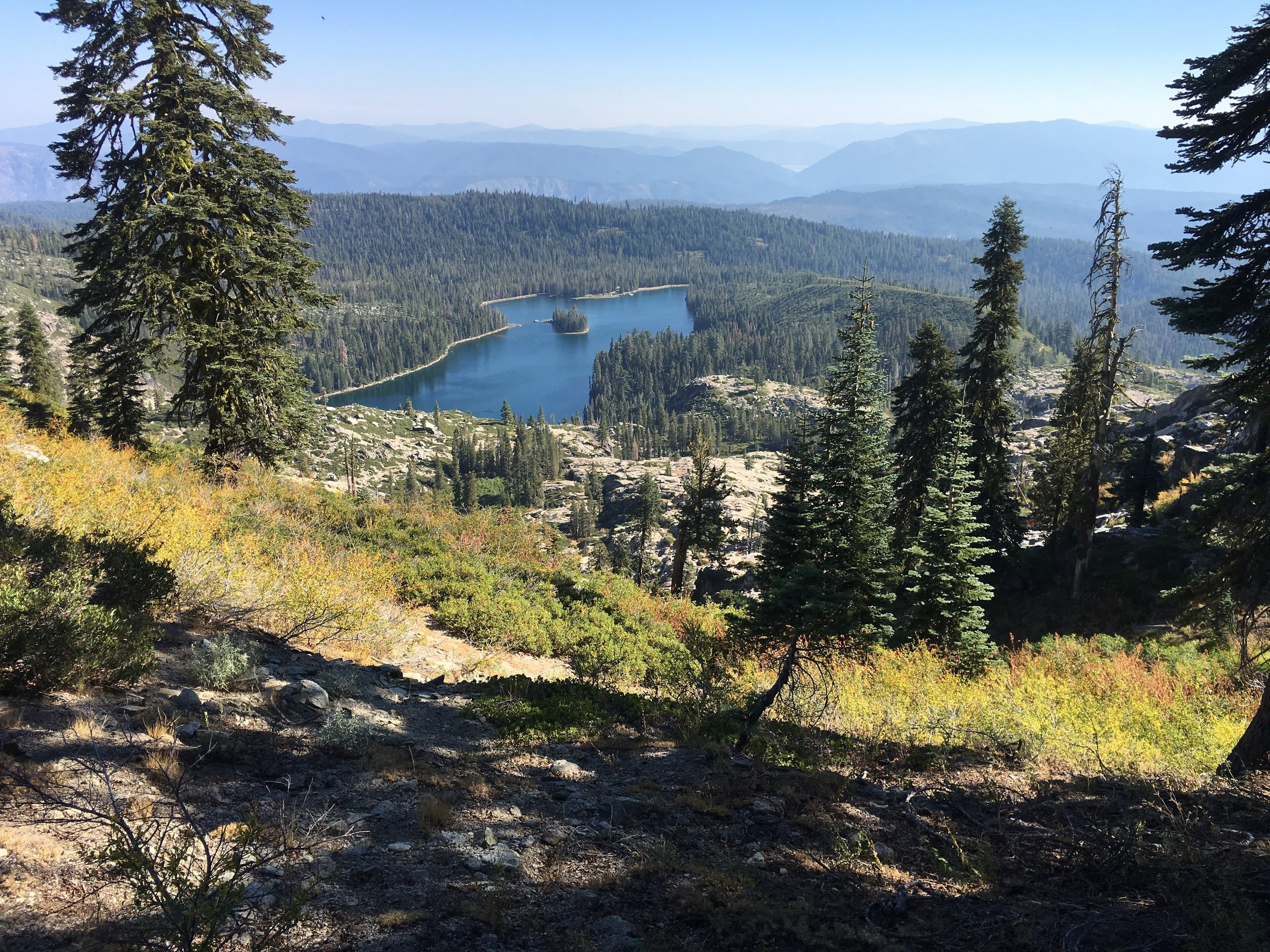Silver Lake looking idyllic from our ridge top traverse.