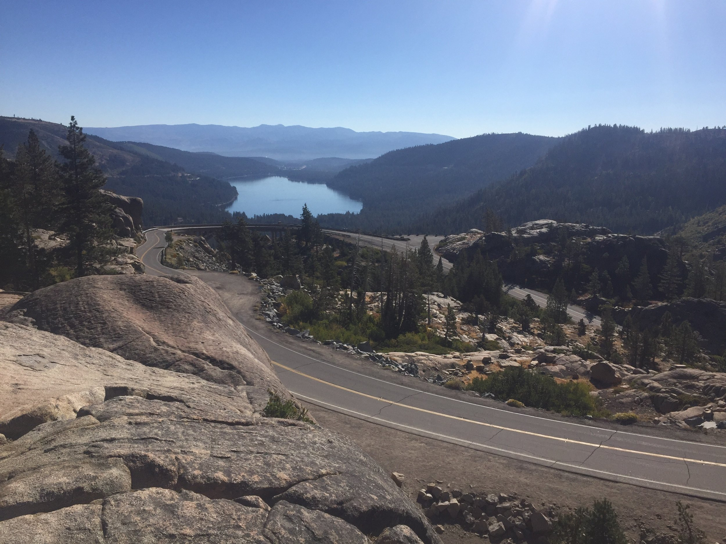 Donner Lake from Old Donner Summit on Hwy 40