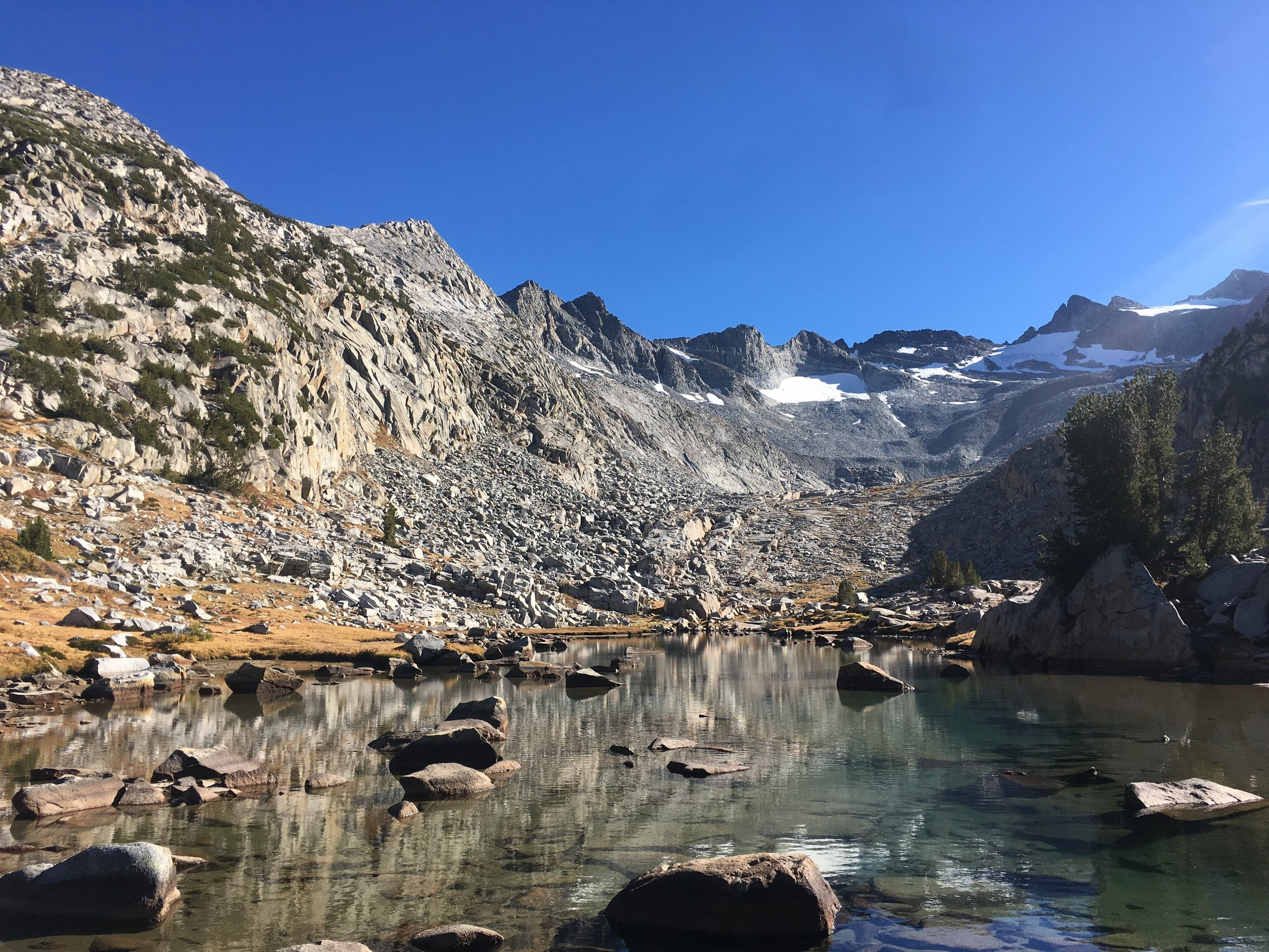 Our final crossing of the Lyell Fork before heading over Donahue Pass.