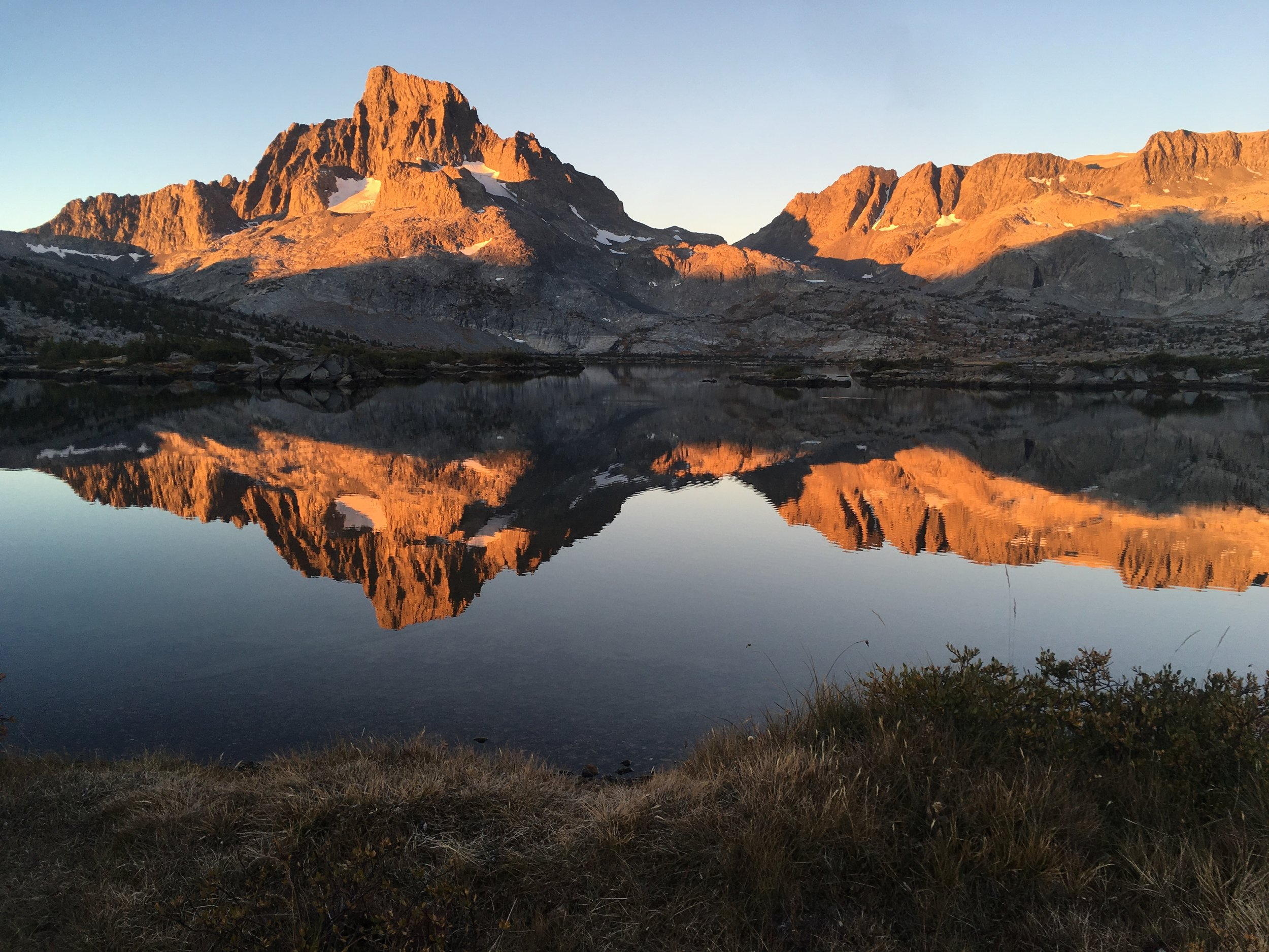 Morning light at Thousand Island Lake. Wishing we could linger longer at this beautiful place.
