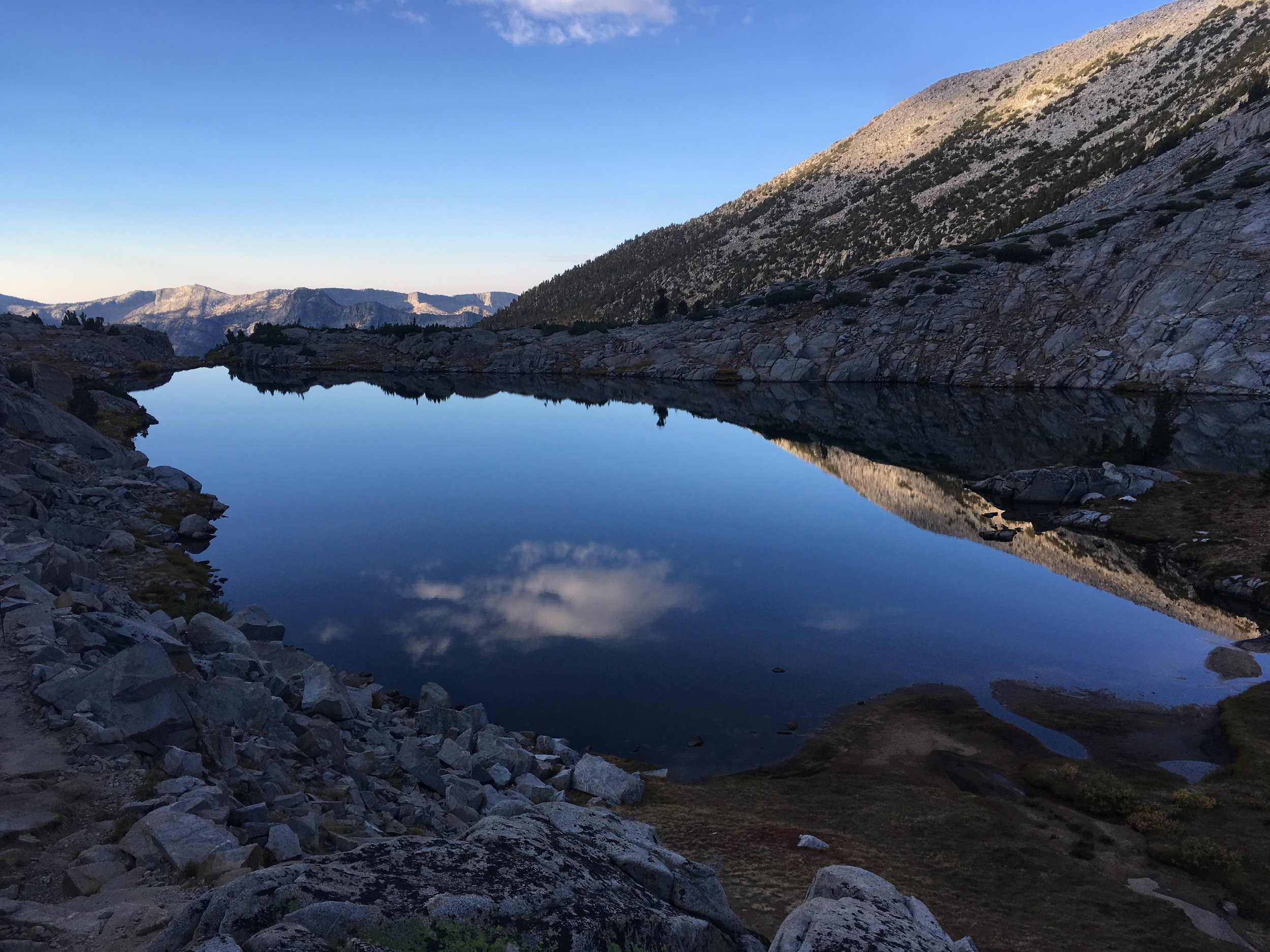 Heart Lake, with its infinity edge and still as a mirror.