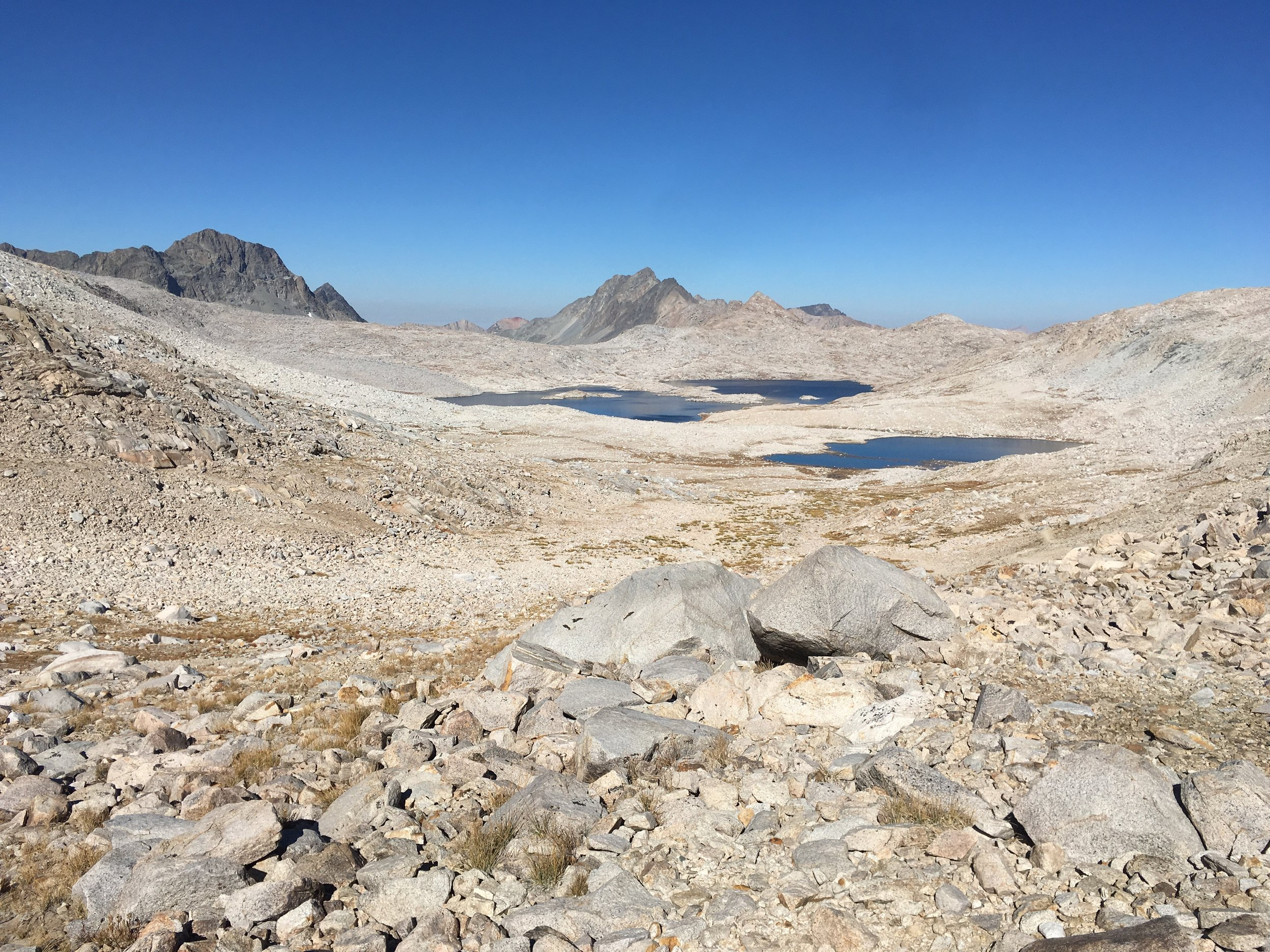 Mt. Davis and Wanda Lake (background) from Muir Pass.