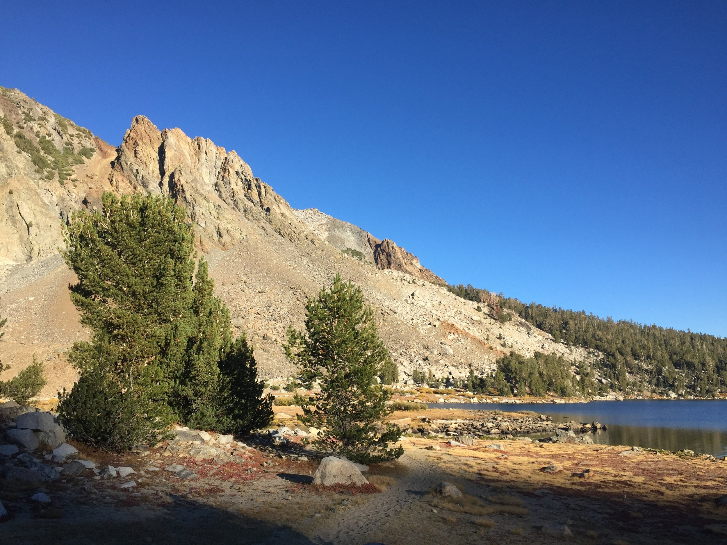 Virginia Lake would make a great camp spot any time of year, but it's especially pretty in he fall