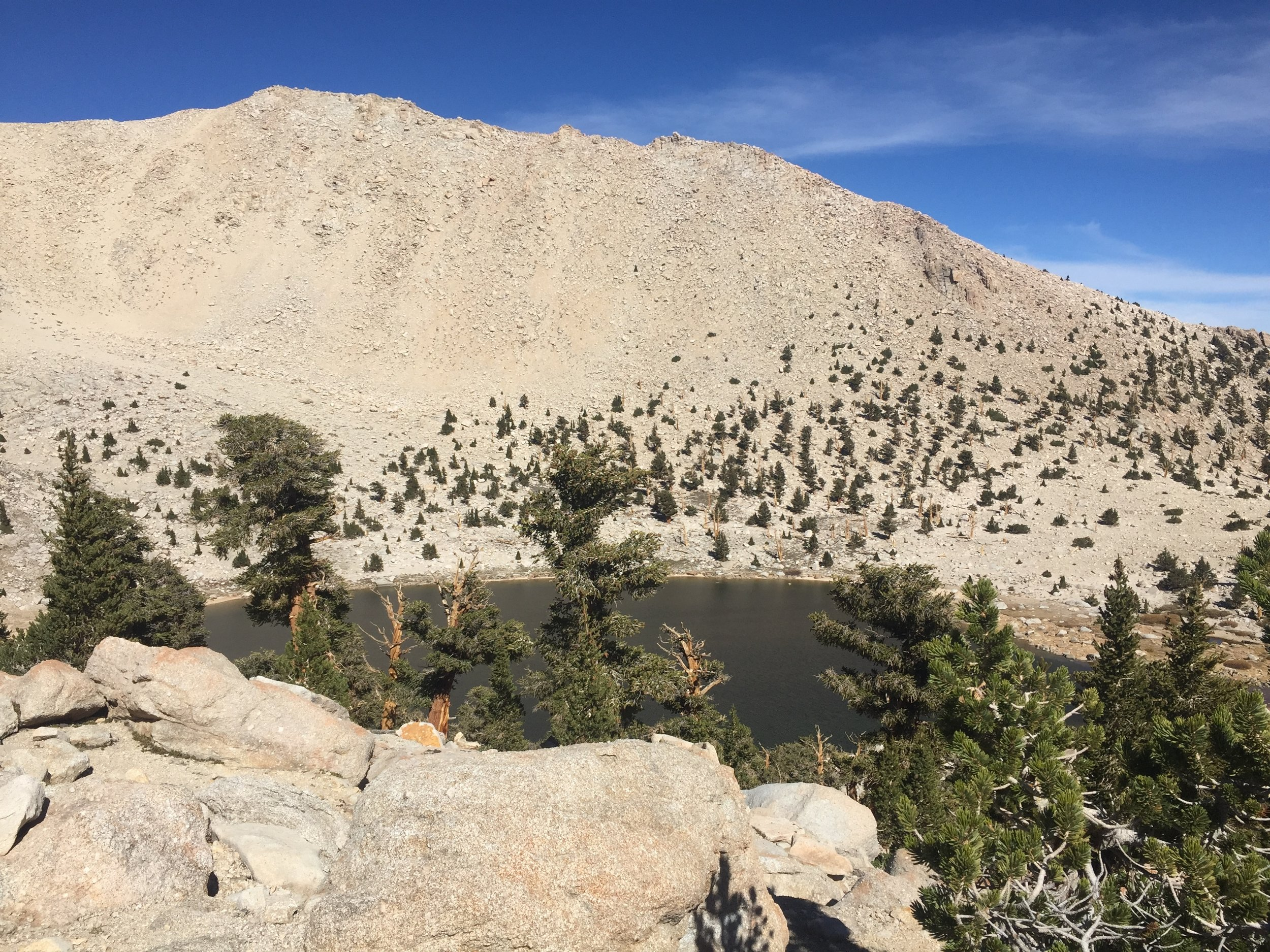 Chicken Spring Lake is the last we'll see in the Sierra Nevada