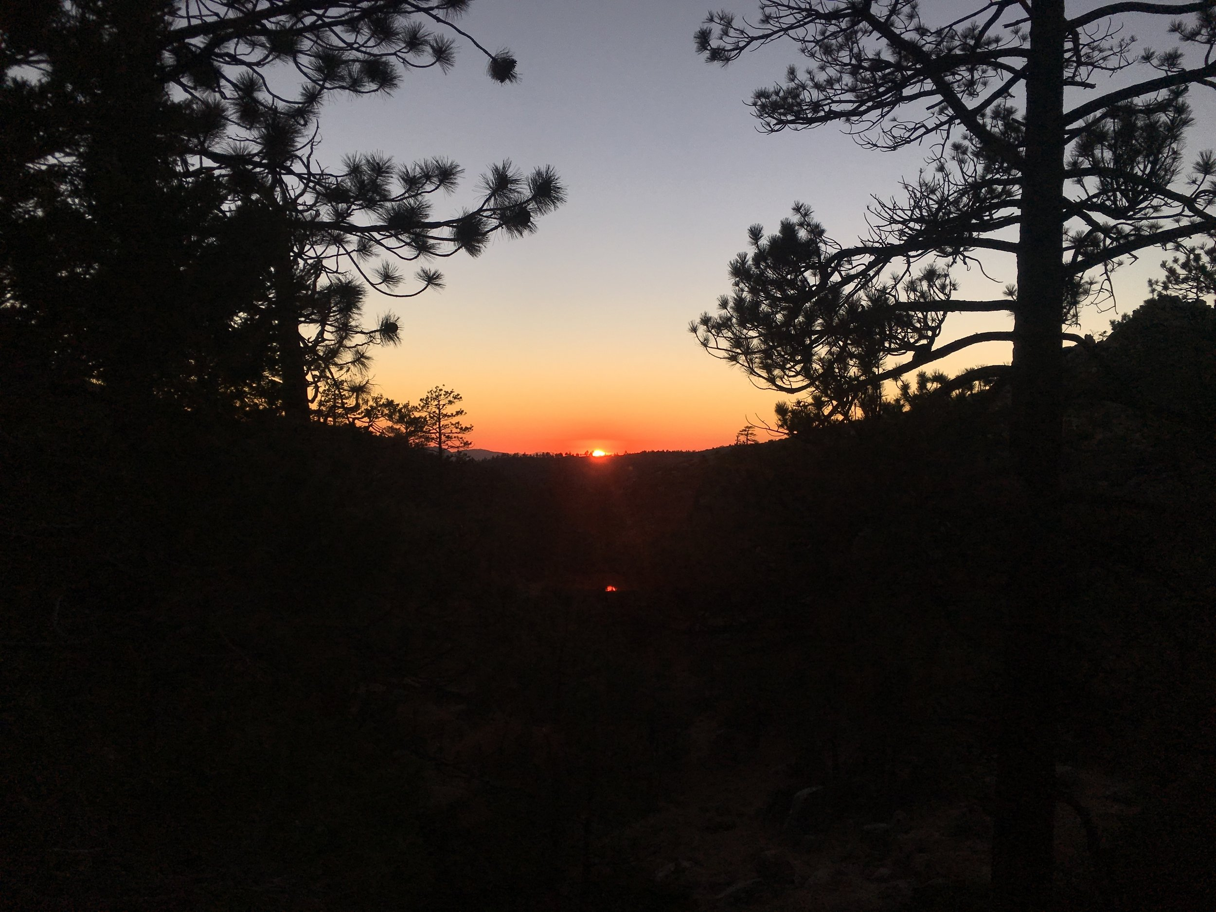 Sunset over the Angeles Crest.